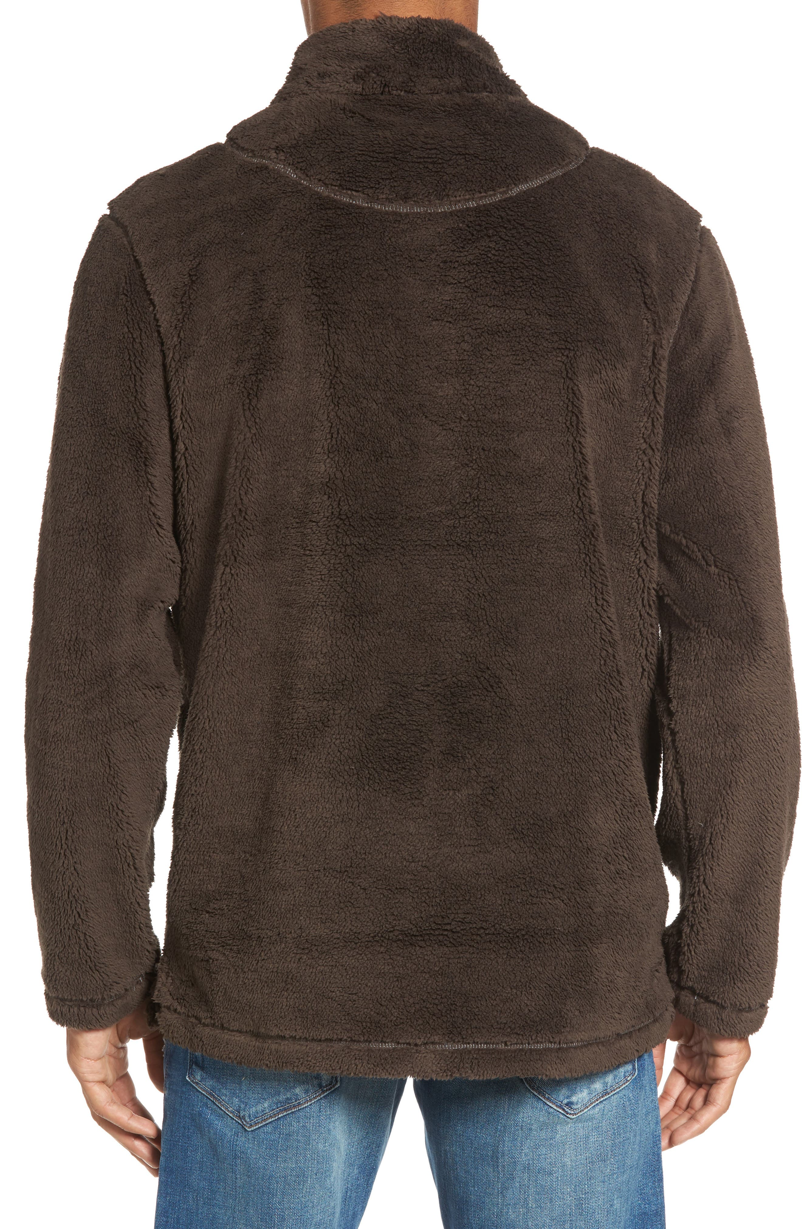 Pebble Pile Quarter Zip Pullover,                             Alternate thumbnail 2, color,                             VINTAGE BR