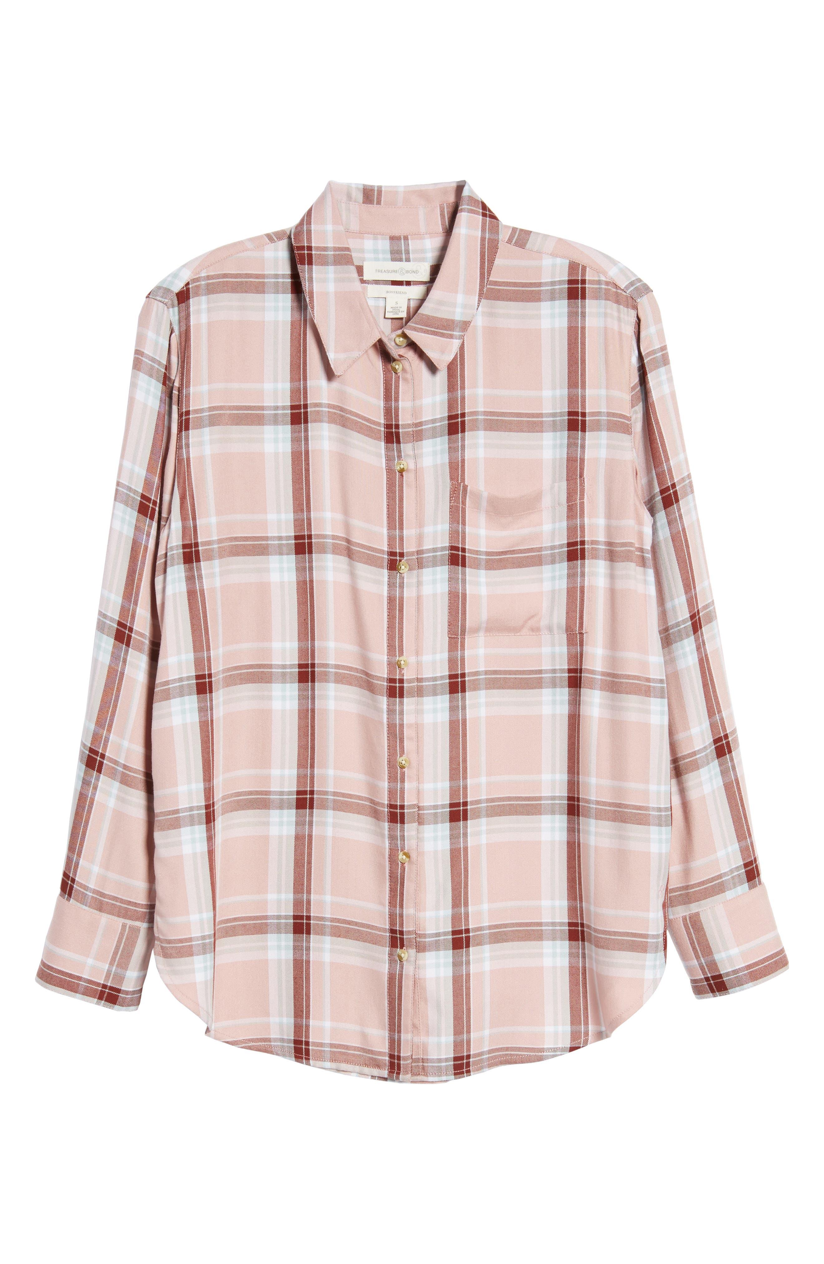 Plaid Boyfriend Shirt,                             Alternate thumbnail 31, color,