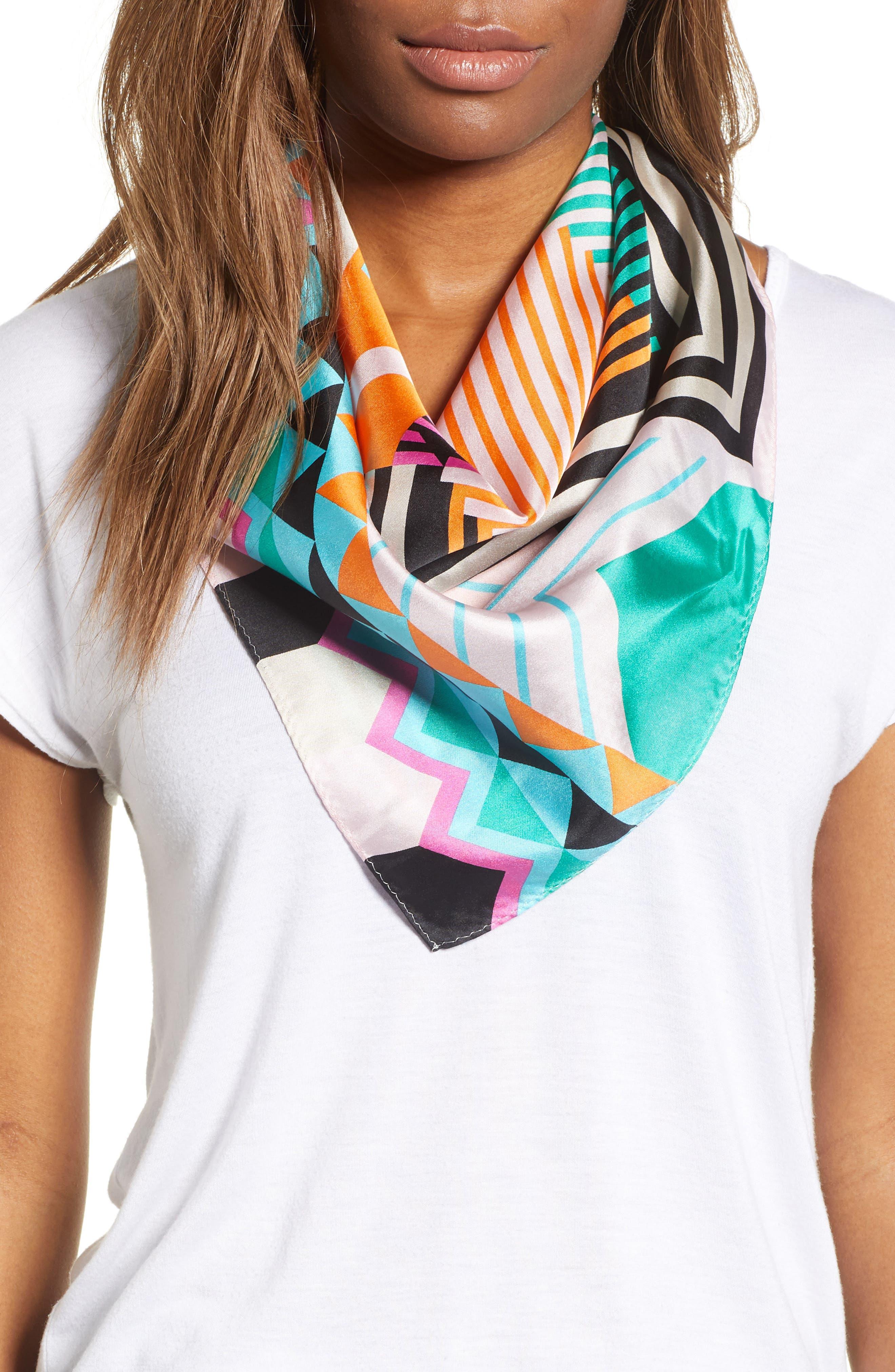 Tassie Square Silk Scarf,                             Main thumbnail 2, color,
