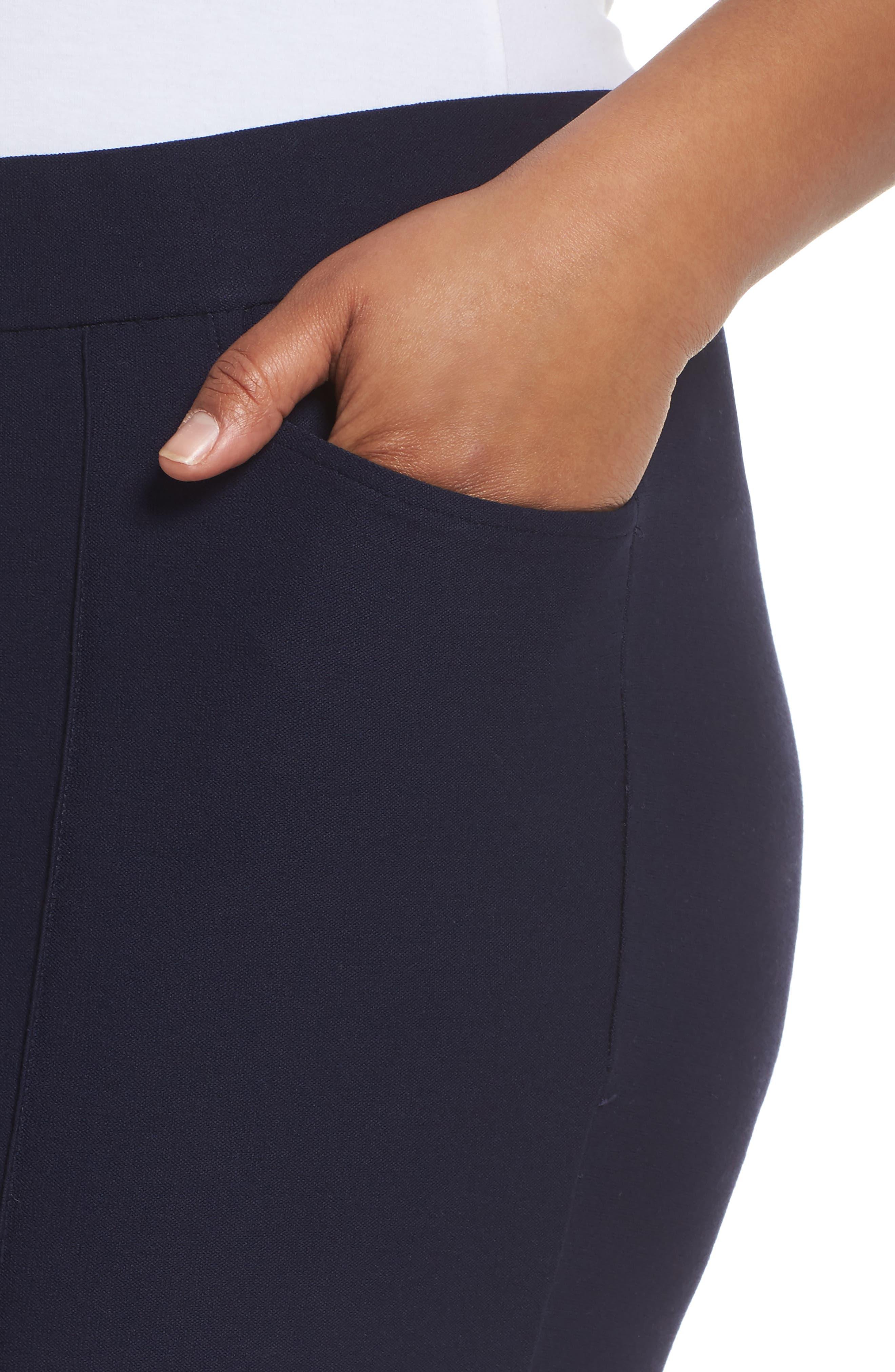Slim Bootcut Pants,                             Alternate thumbnail 4, color,