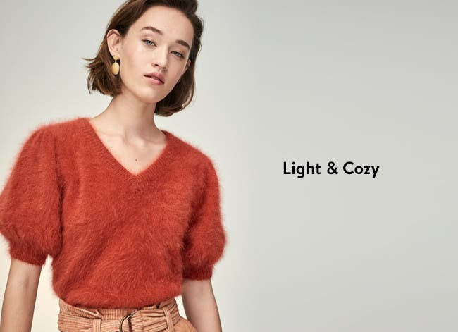 Light and cozy women's sweaters.