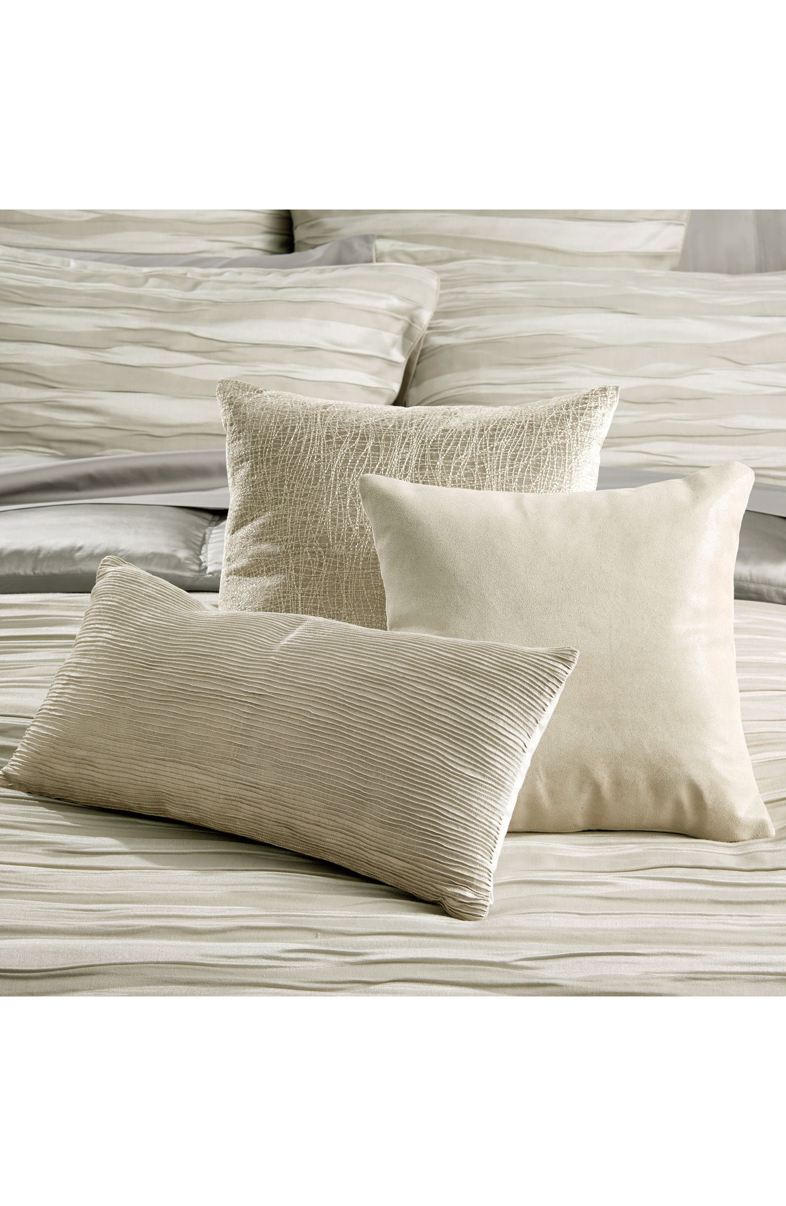 Tidal Accent Pillow,                             Main thumbnail 1, color,                             SILVER
