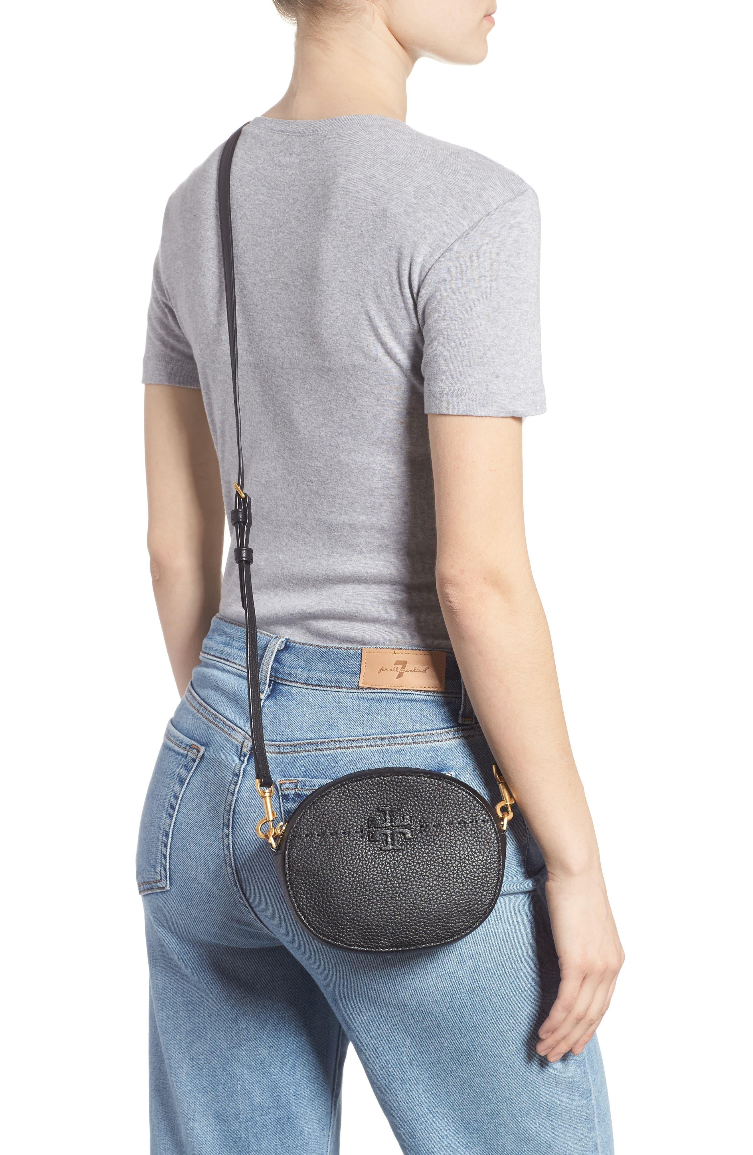 McGraw Leather Belt/Crossbody Bag,                             Alternate thumbnail 3, color,                             001