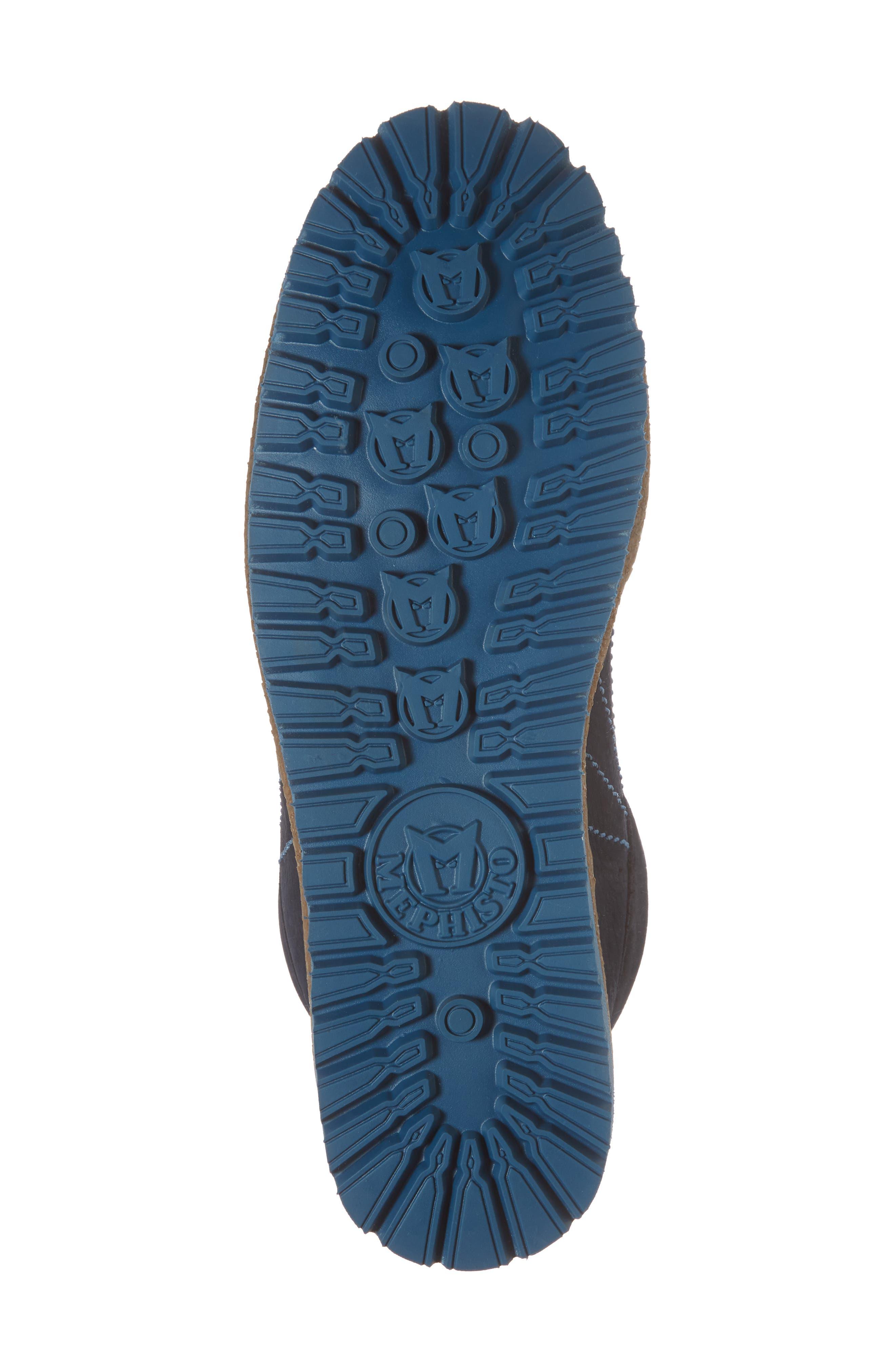 Rainbow Sneaker,                             Alternate thumbnail 6, color,                             NAVY BLUE SUEDE