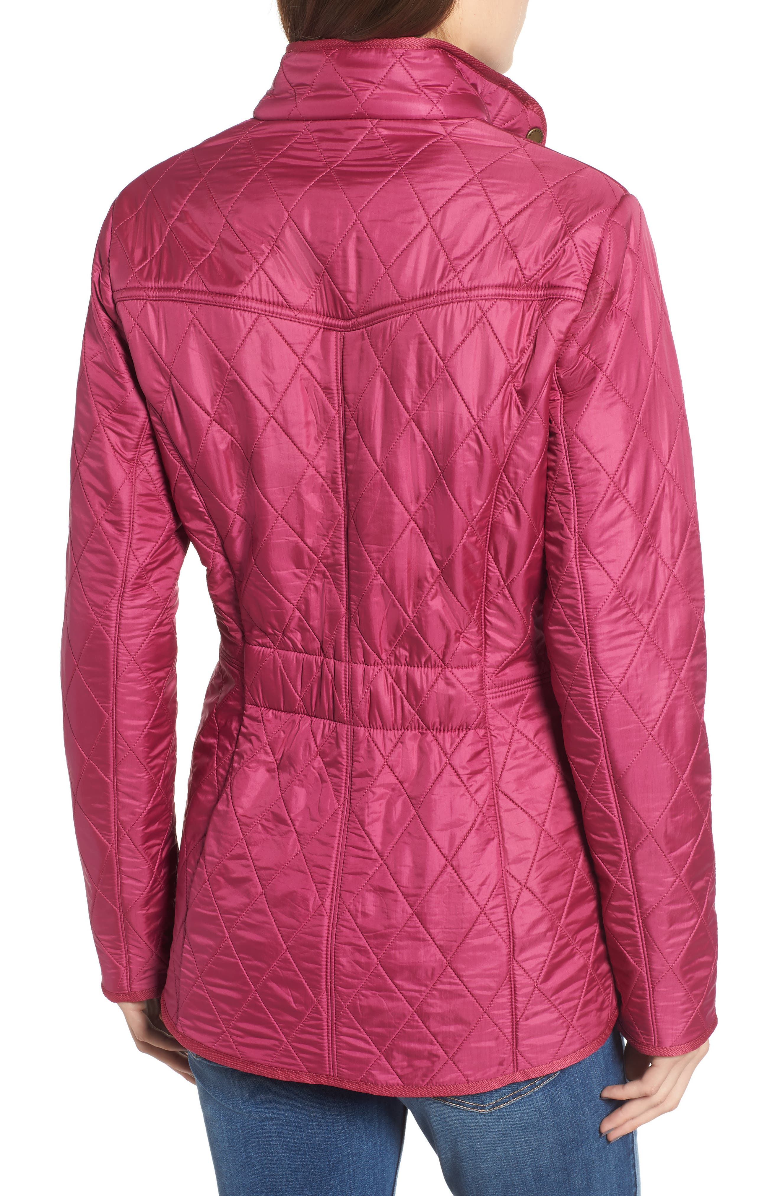 'Cavalry' Quilted Jacket,                             Alternate thumbnail 2, color,                             BERRY PINK / NAVY