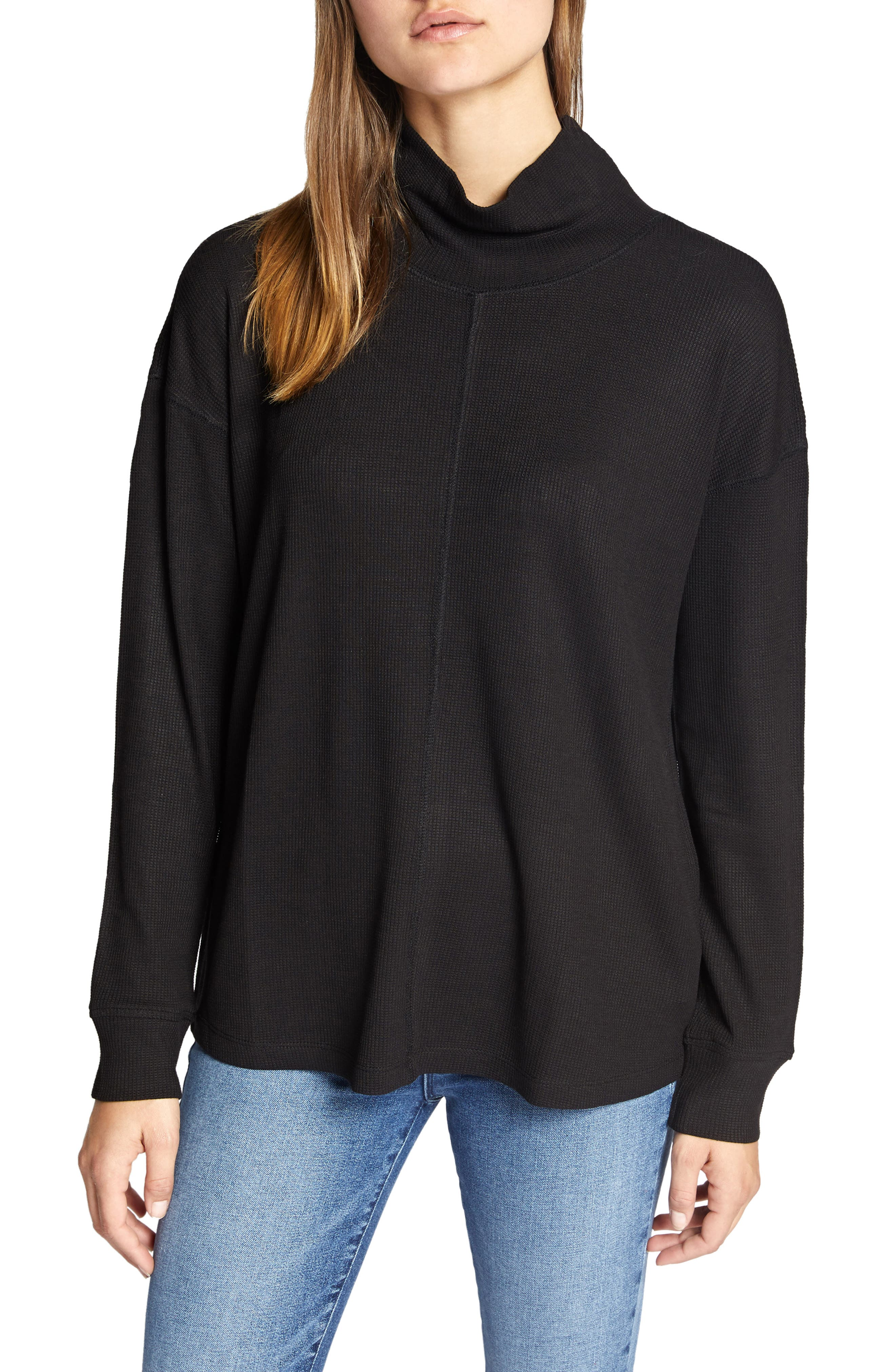 High Road Waffle Knit Tee in Black