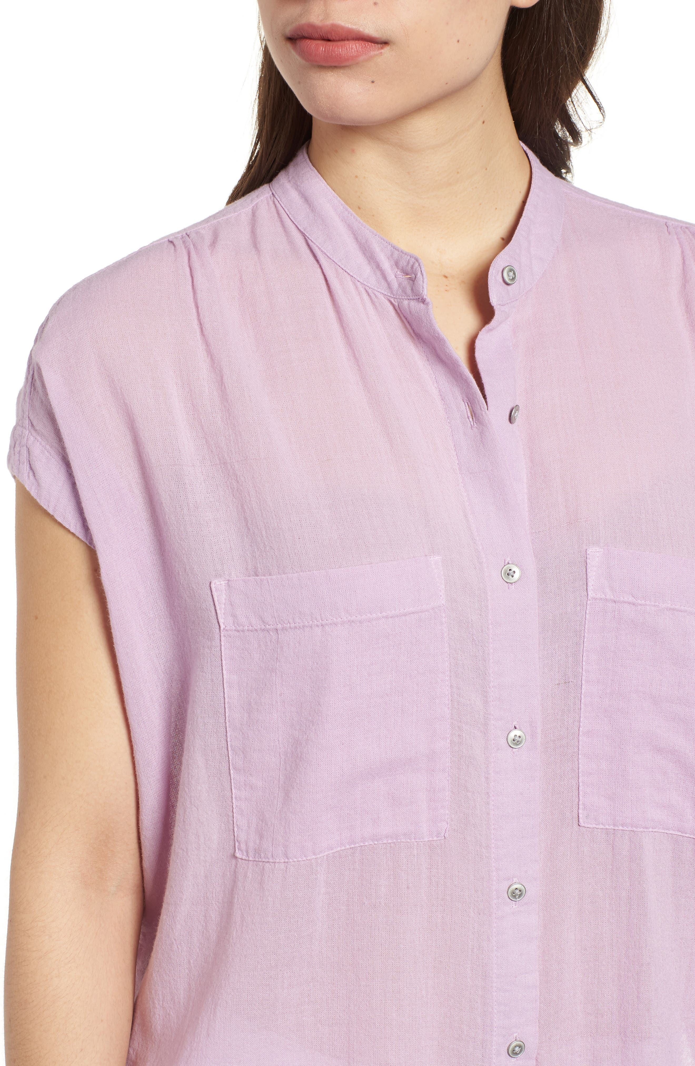 Button Front Longline Top,                             Alternate thumbnail 30, color,