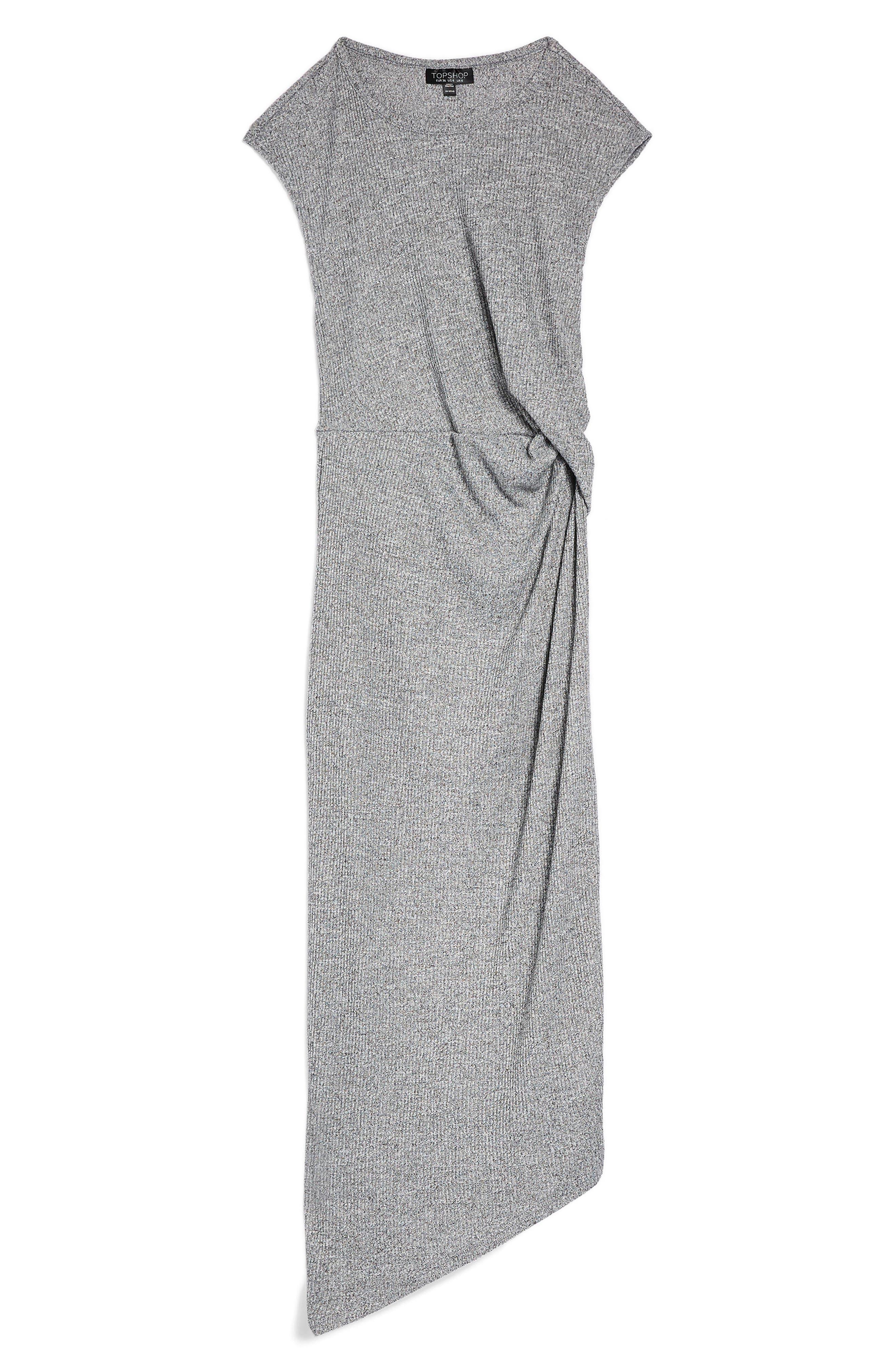 Side Drape Maxi Dress,                             Alternate thumbnail 5, color,                             020