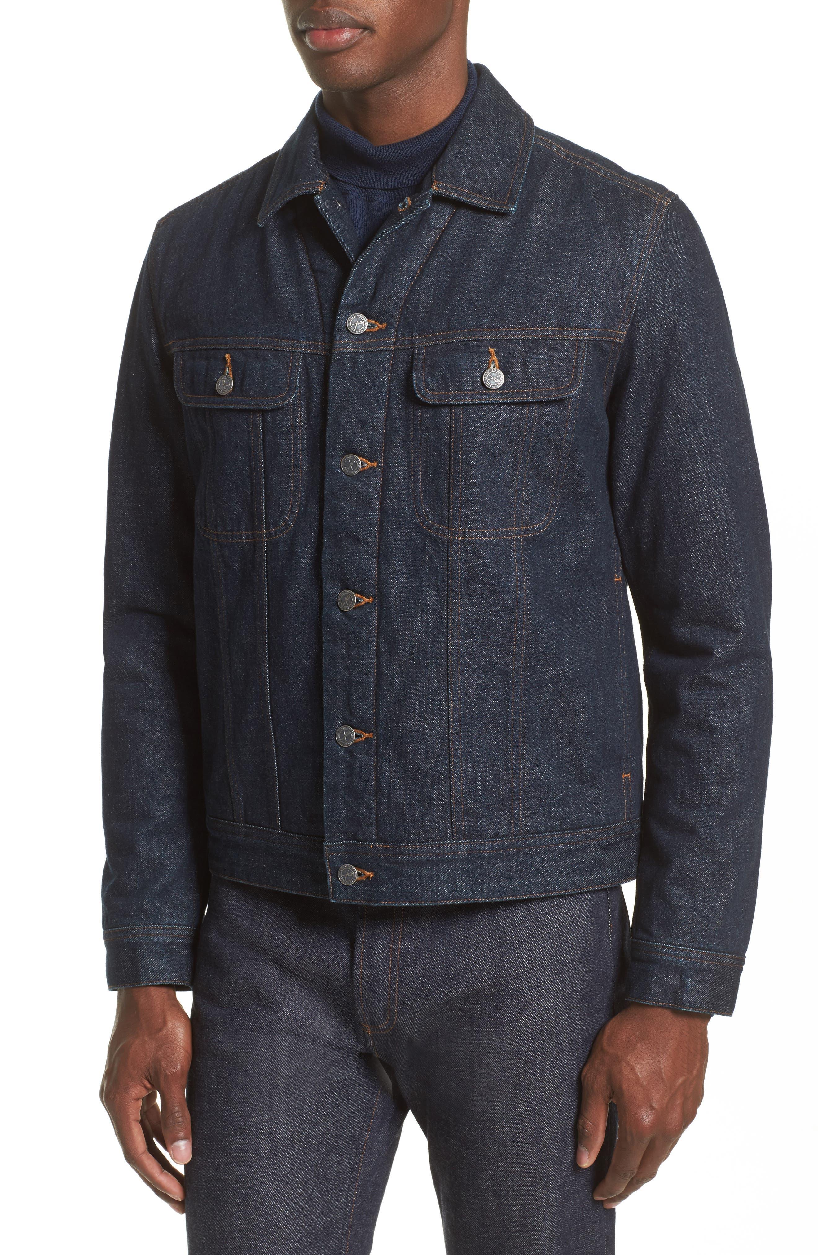 Denim Shirt Jacket,                             Alternate thumbnail 5, color,                             468