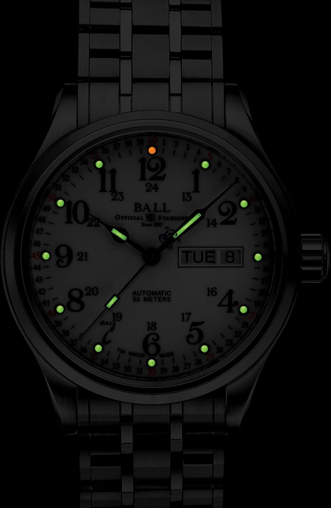 'Trainmaster 60 Seconds II' Bracelet Watch, 41mm,                             Alternate thumbnail 3, color,                             100