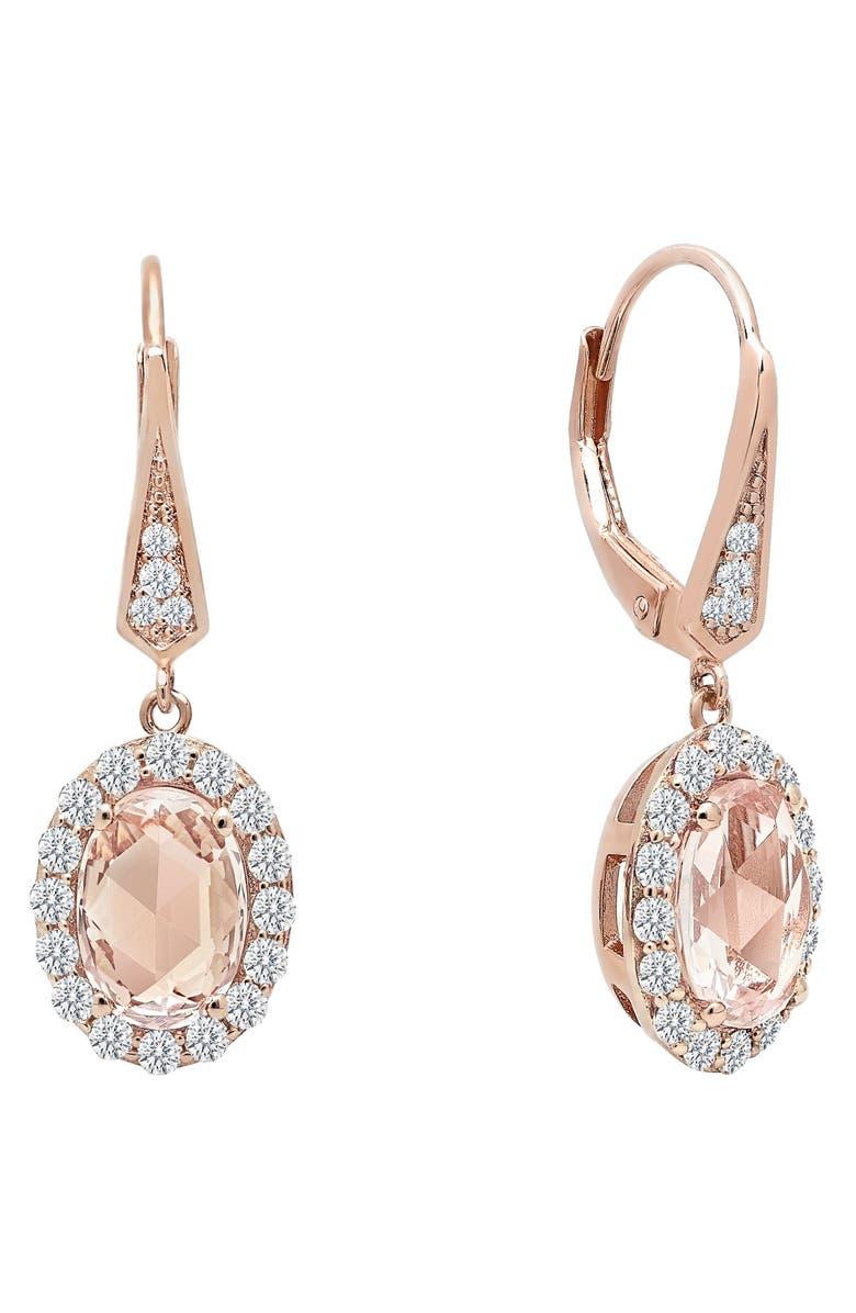 Simulated Diamond Drop Earrings Main