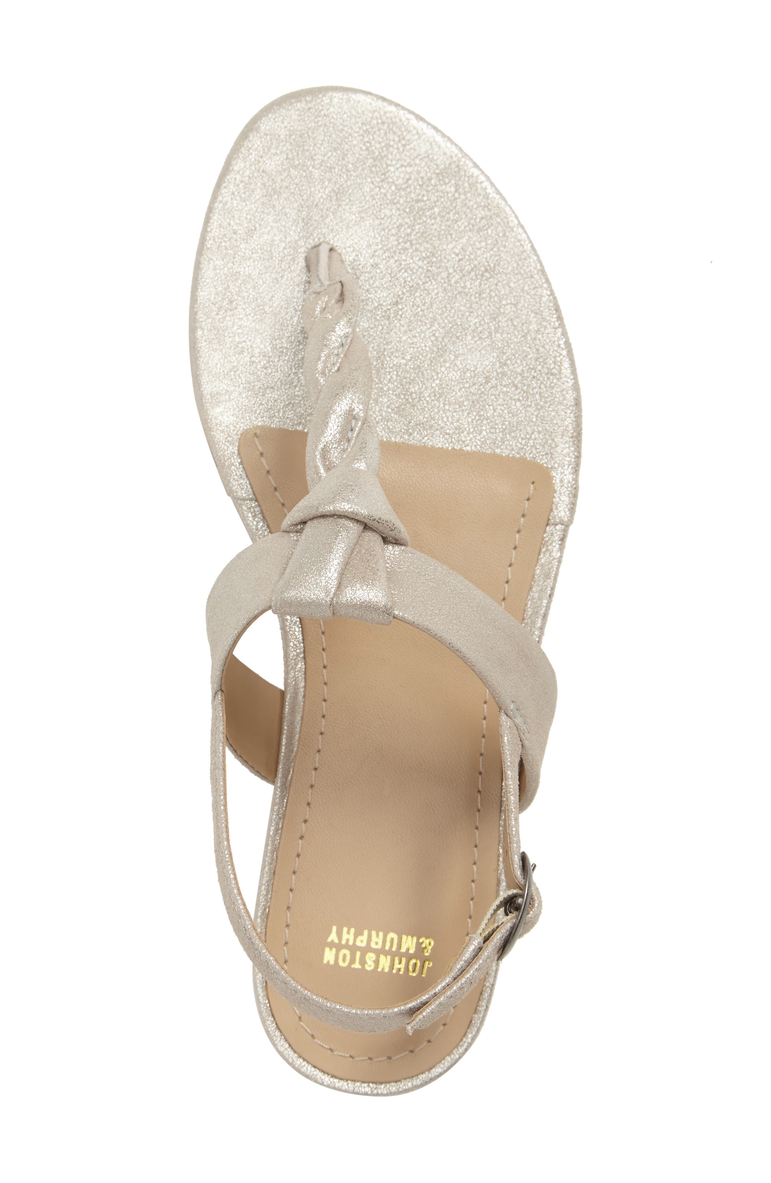 Holly Twisted T-Strap Sandal,                             Alternate thumbnail 22, color,
