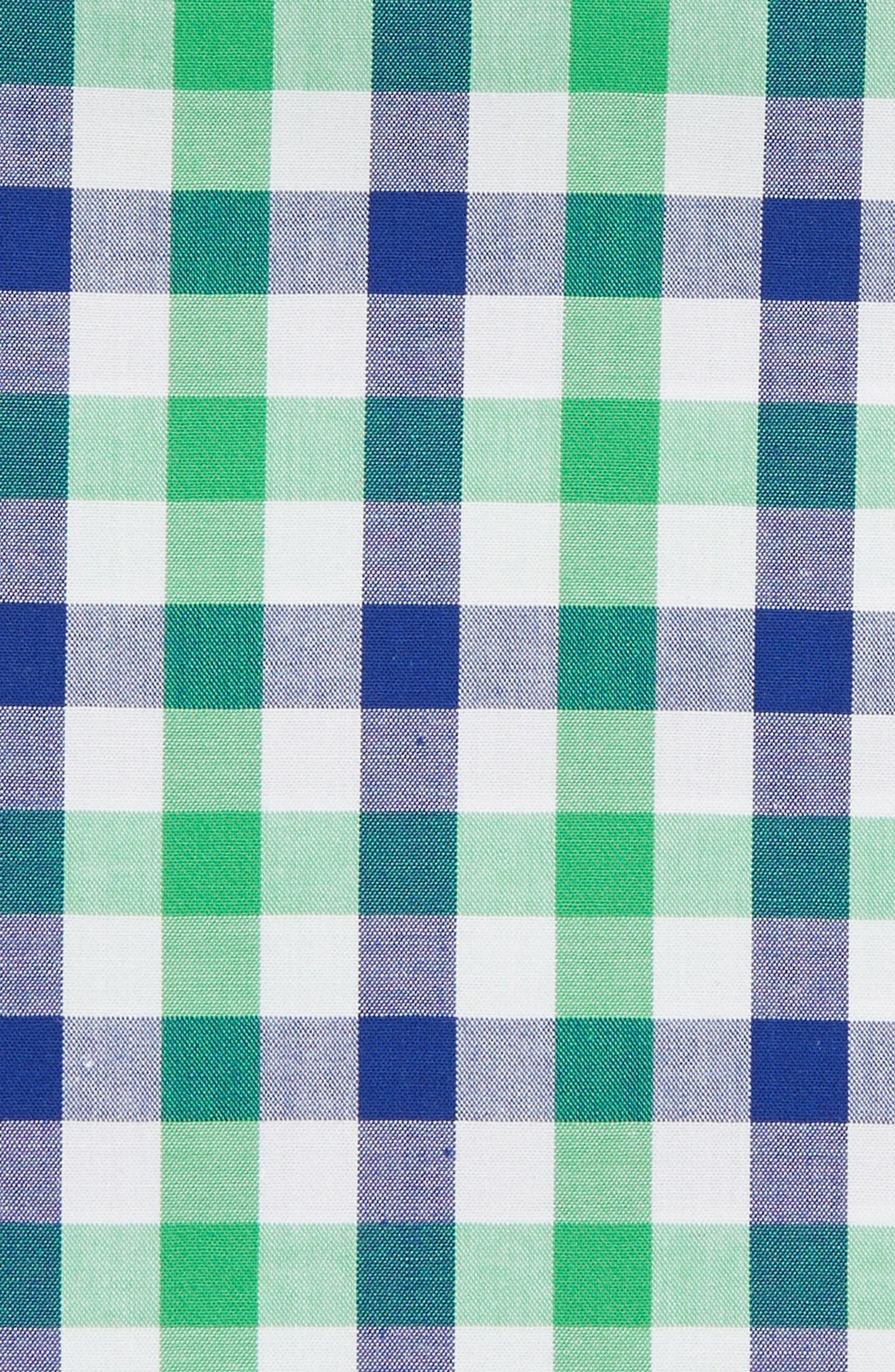 Gingham Pocket Square,                             Alternate thumbnail 3, color,                             GREEN