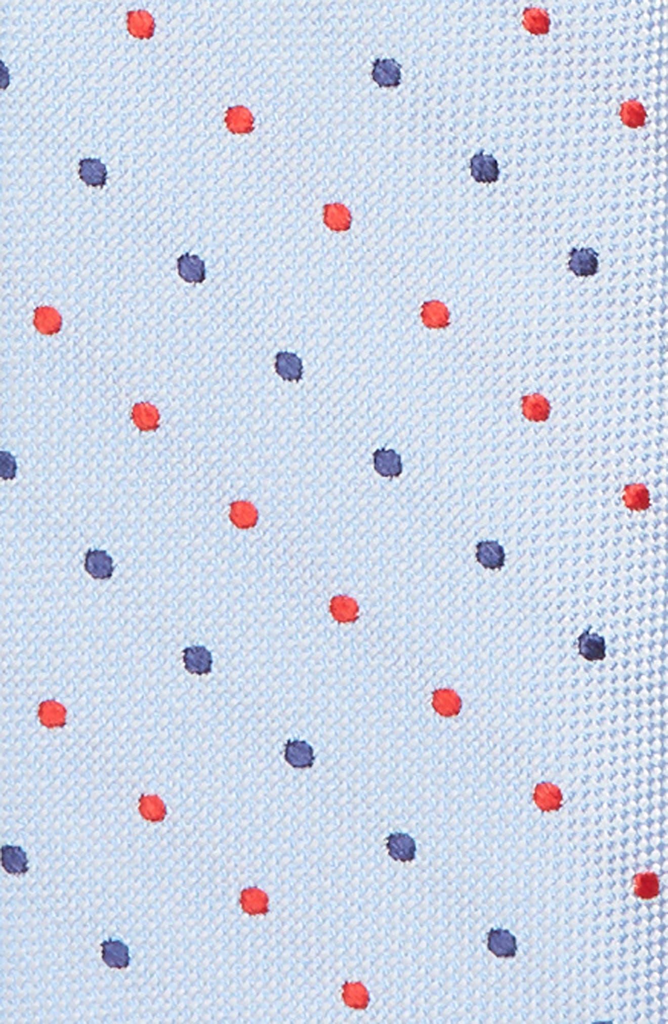 Double Dot Silk Zip Tie,                             Alternate thumbnail 4, color,