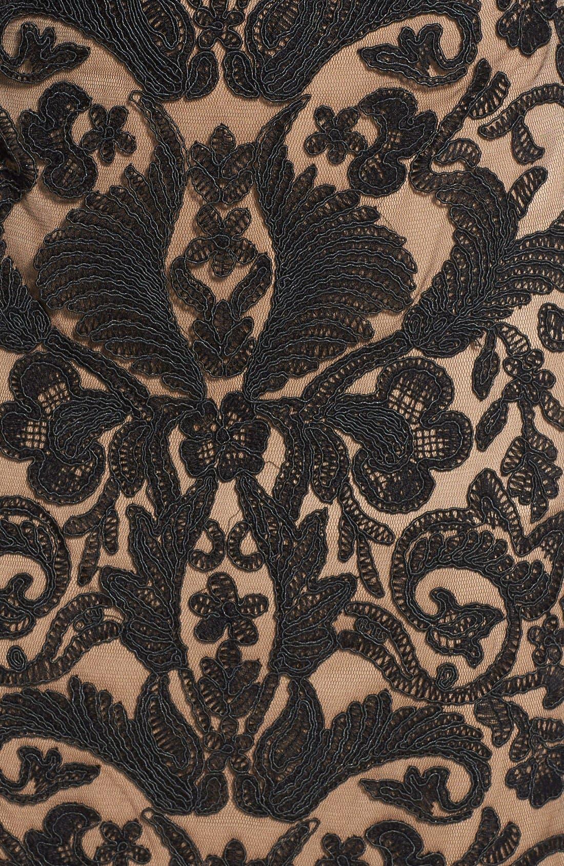 Illusion Yoke Lace Sheath Dress,                             Alternate thumbnail 25, color,