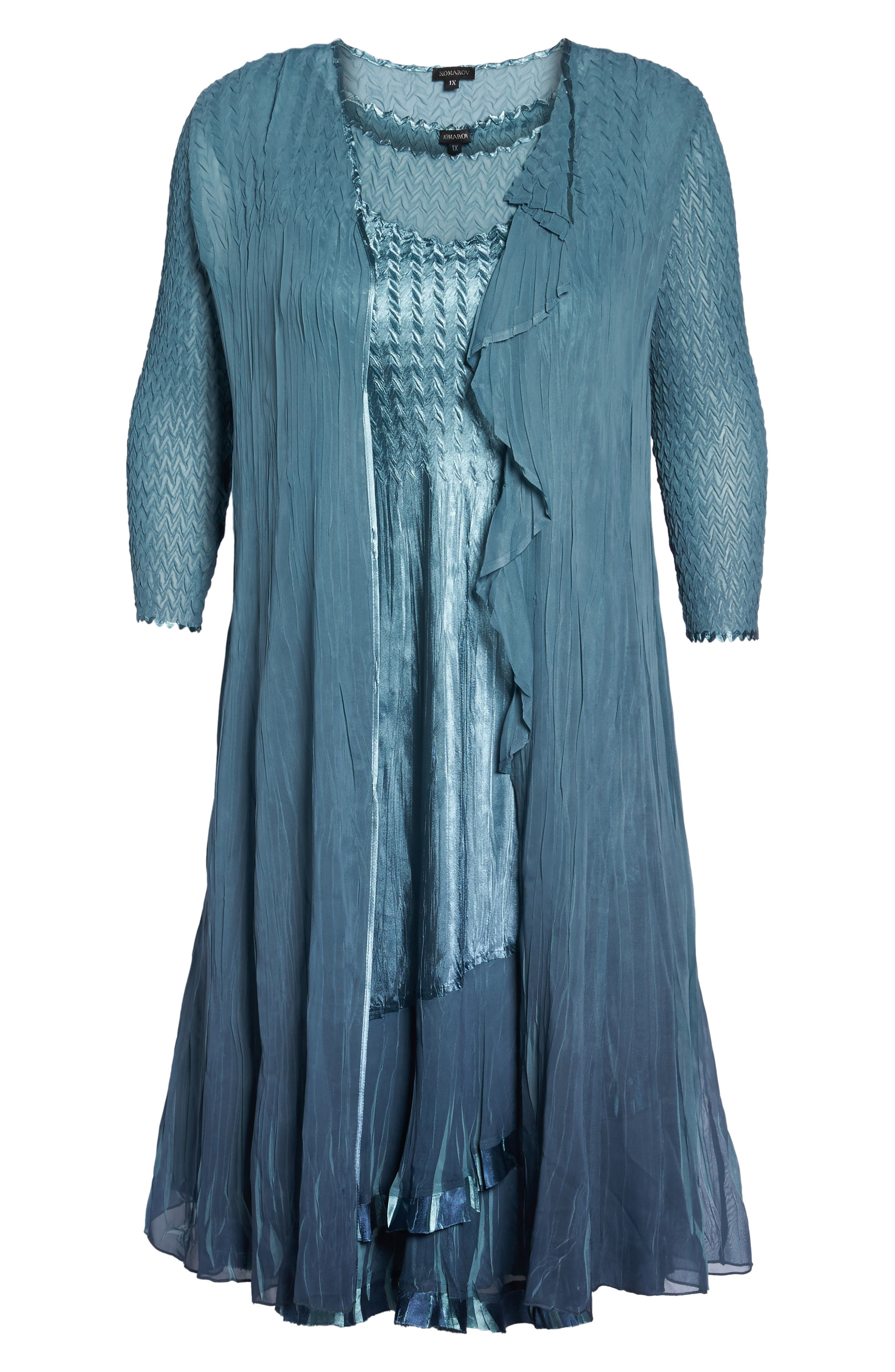 Tiered Dress with Jacket,                             Alternate thumbnail 6, color,                             405