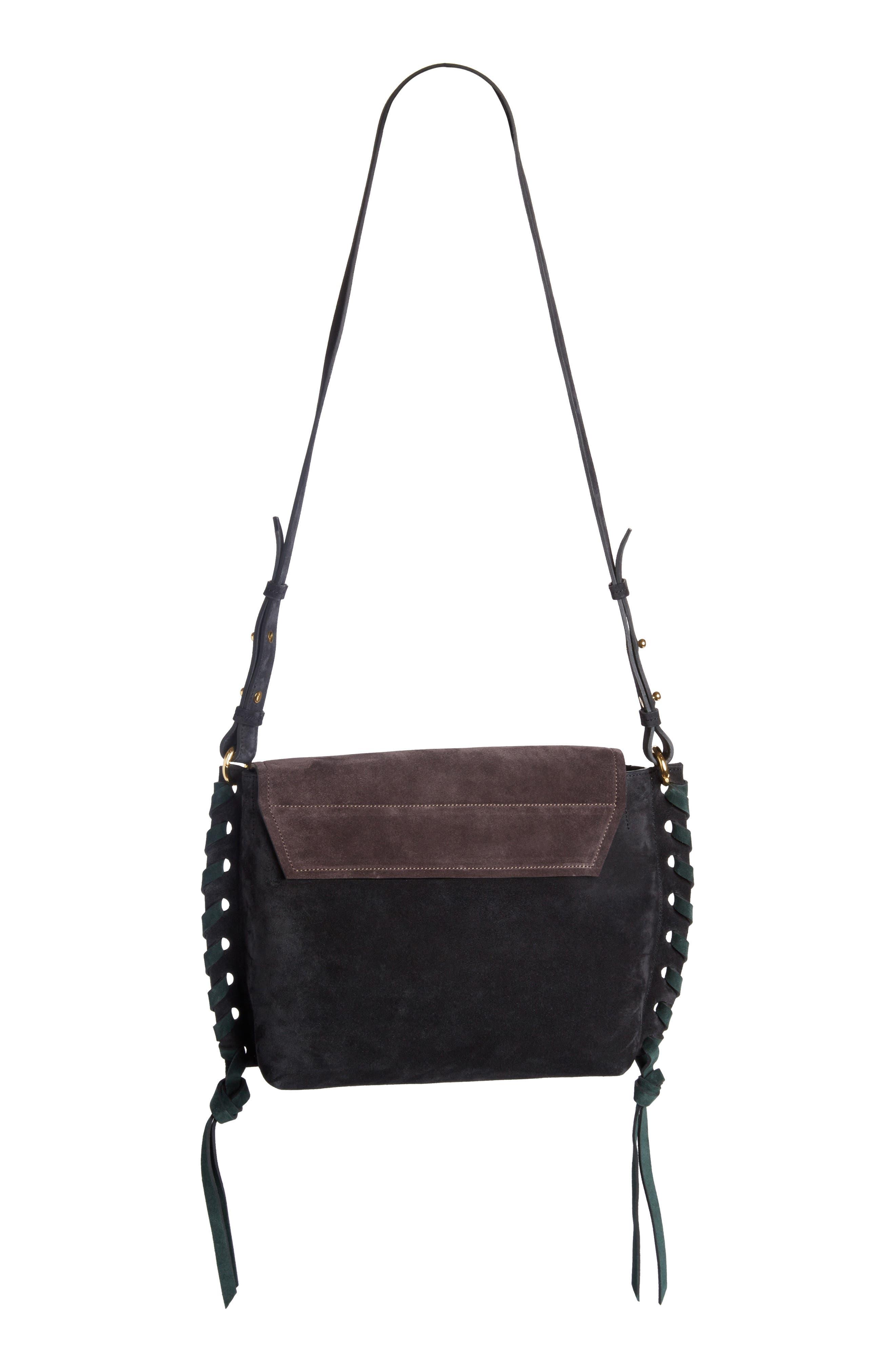 Asli Colorblock Suede Shoulder Bag,                             Alternate thumbnail 2, color,                             002