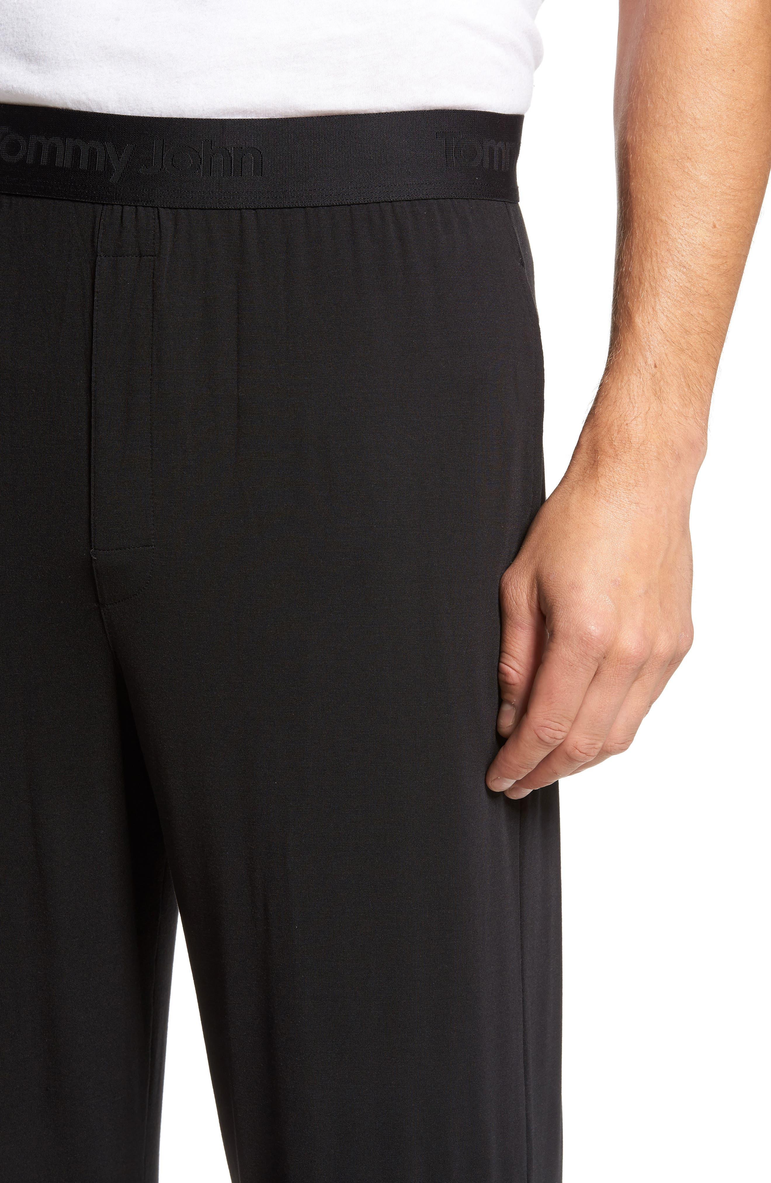Second Skin Lounge Pants,                             Alternate thumbnail 4, color,                             BLACK