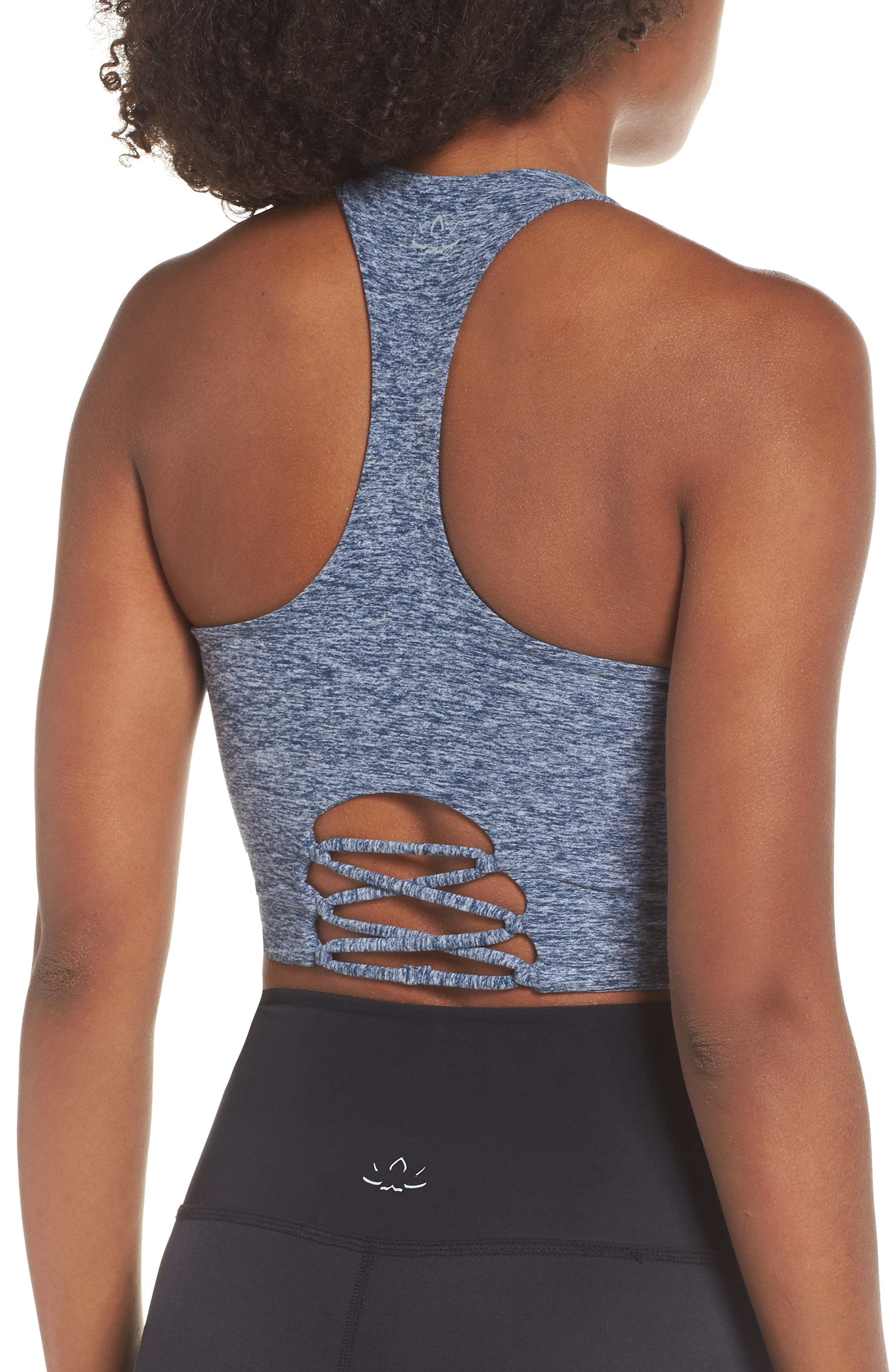 Across the Strap Cropped Top,                             Alternate thumbnail 2, color,                             WHITE/ OUTLAW NAVY