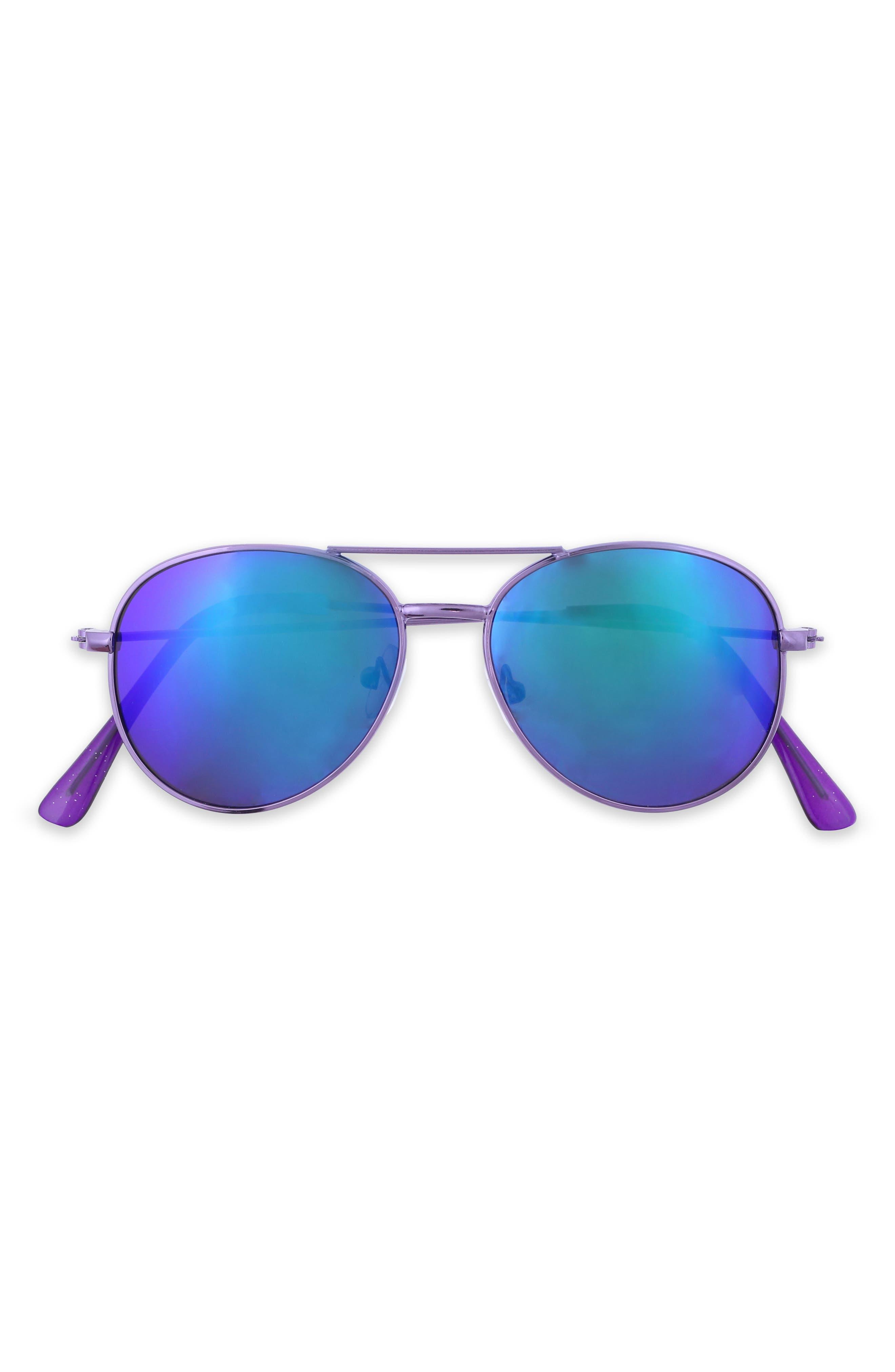 Mirrored Aviator Sunglasses,                         Main,                         color,
