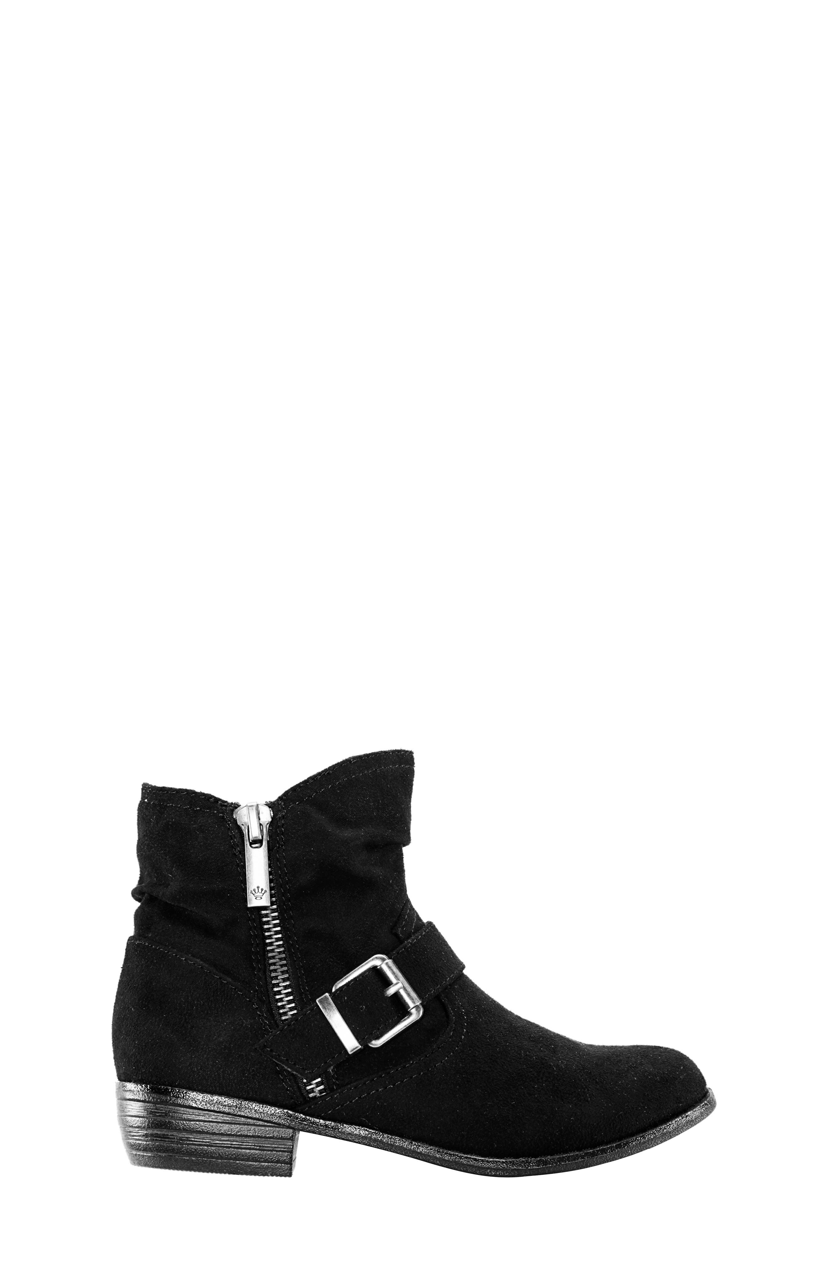 Dorrie Moto Bootie,                             Alternate thumbnail 3, color,                             BLACK BURNISHED