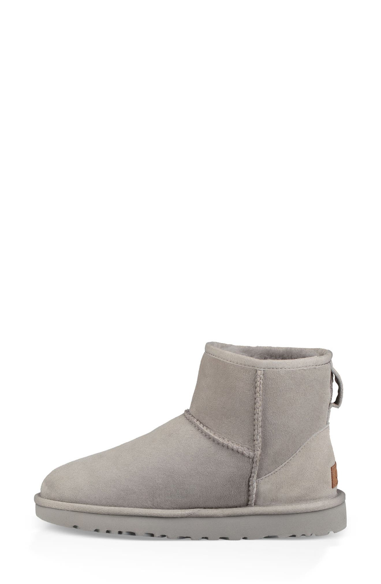 'Classic Mini II' Genuine Shearling Lined Boot,                             Alternate thumbnail 6, color,                             SEAL SUEDE