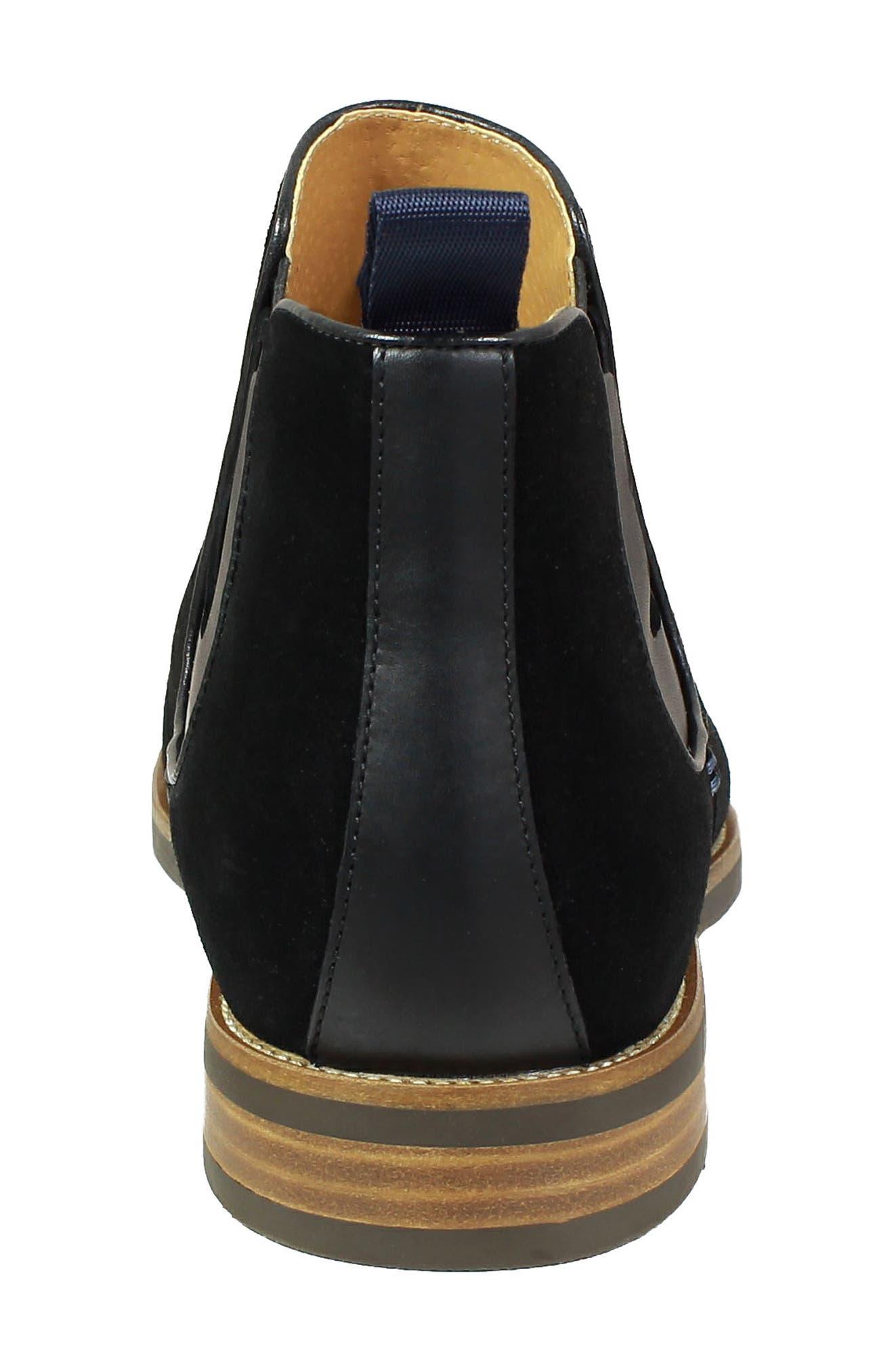 Uptown Plain Toe Mid Chelsea Boot,                             Alternate thumbnail 7, color,                             BLACK SUEDE