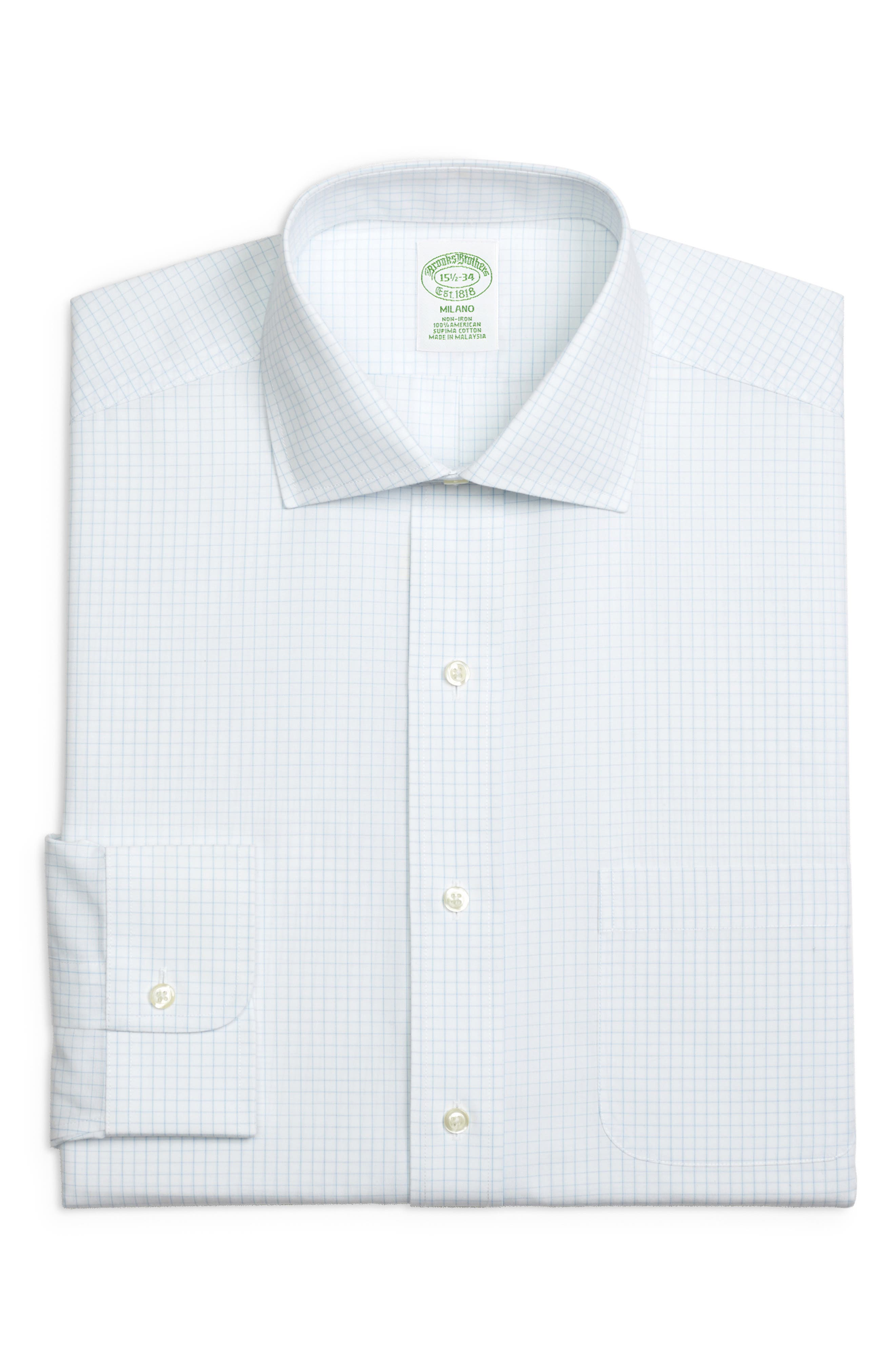 Brooks Brothers Trim Fit Check Dress Shirt (3 For $207)