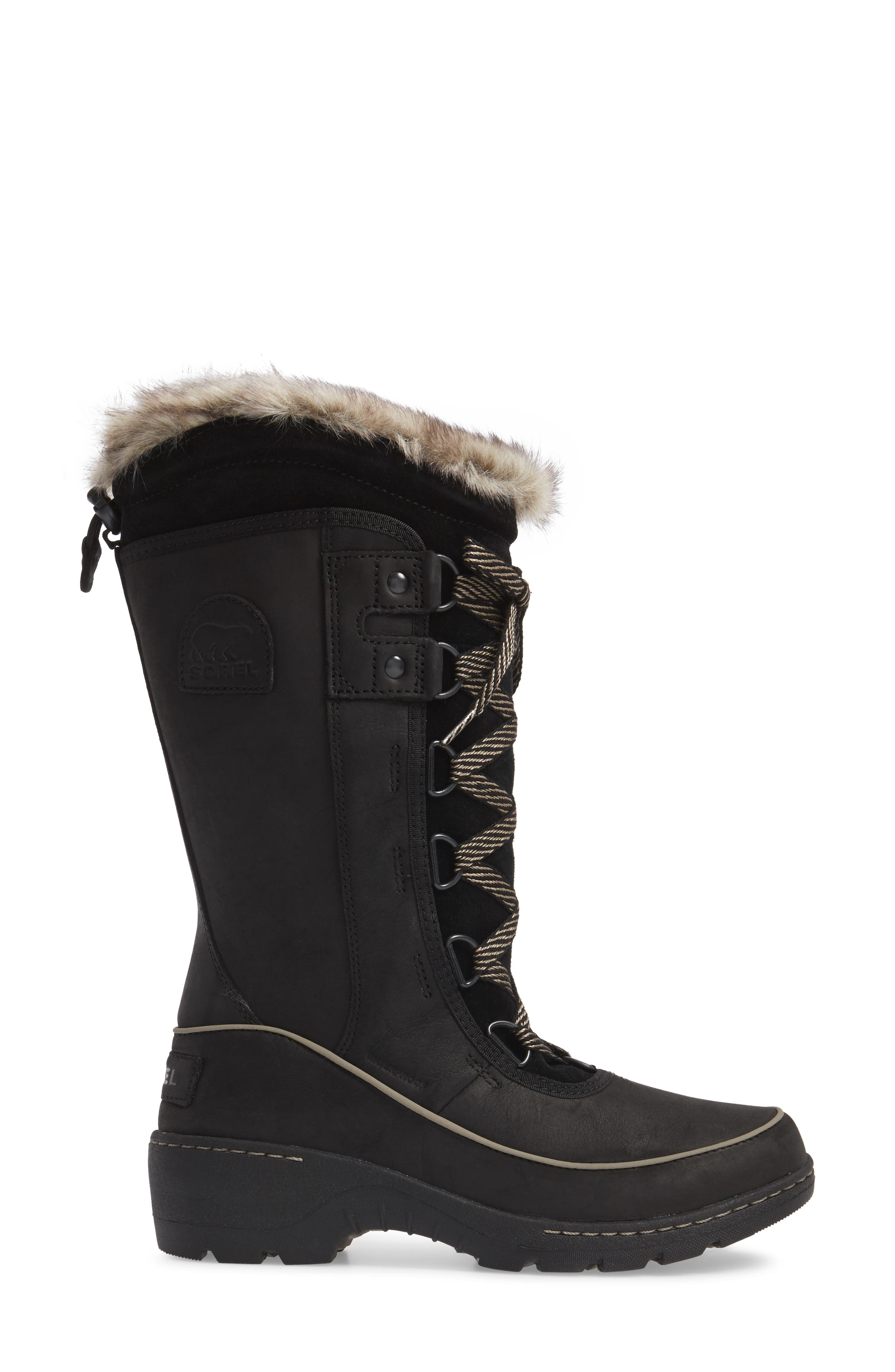 Tivoli II Insulated Winter Boot with Faux Fur Trim,                             Alternate thumbnail 3, color,                             010