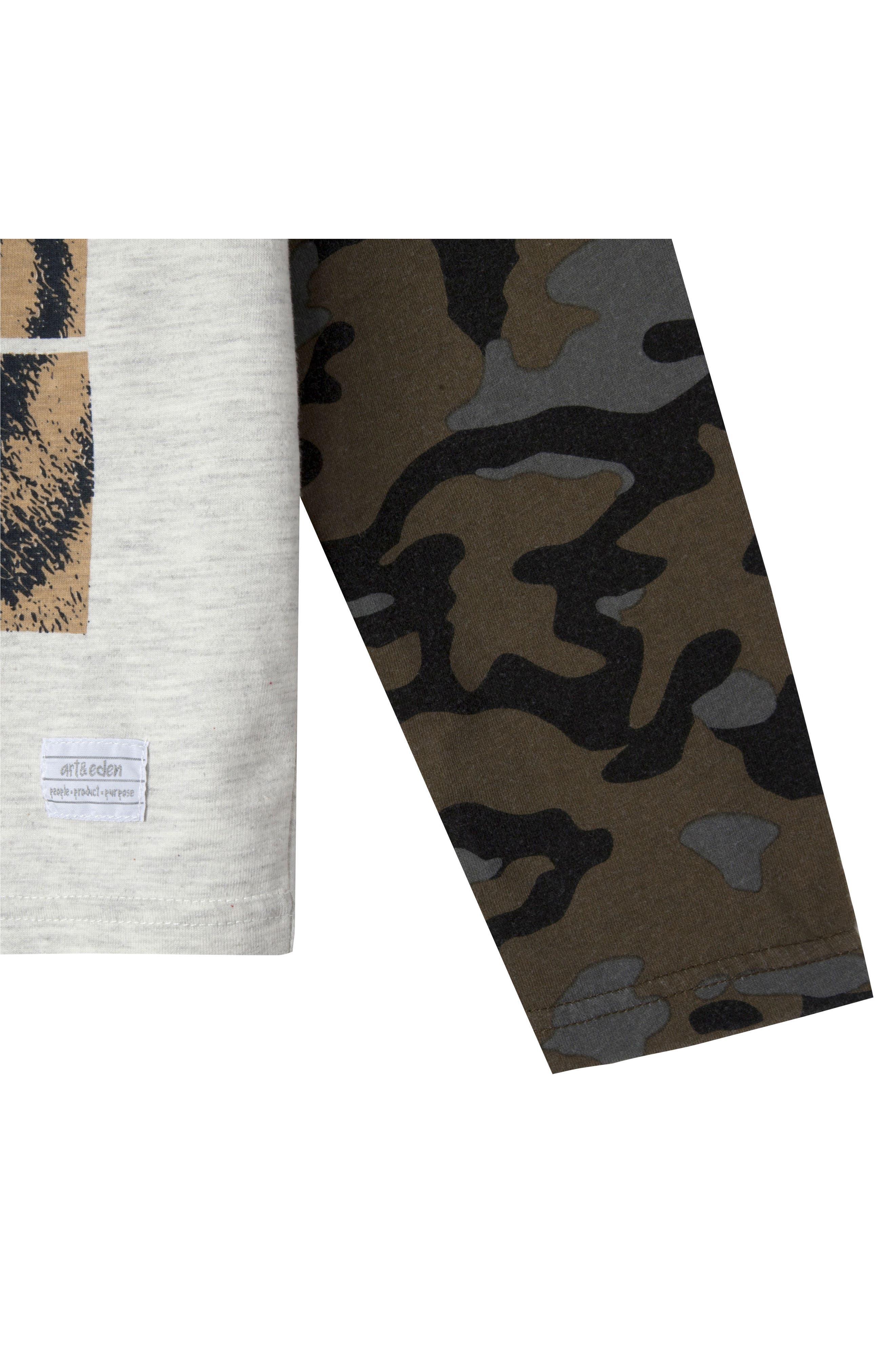 Mini Roar Organic Cotton Raglan T-Shirt,                             Alternate thumbnail 2, color,                             053