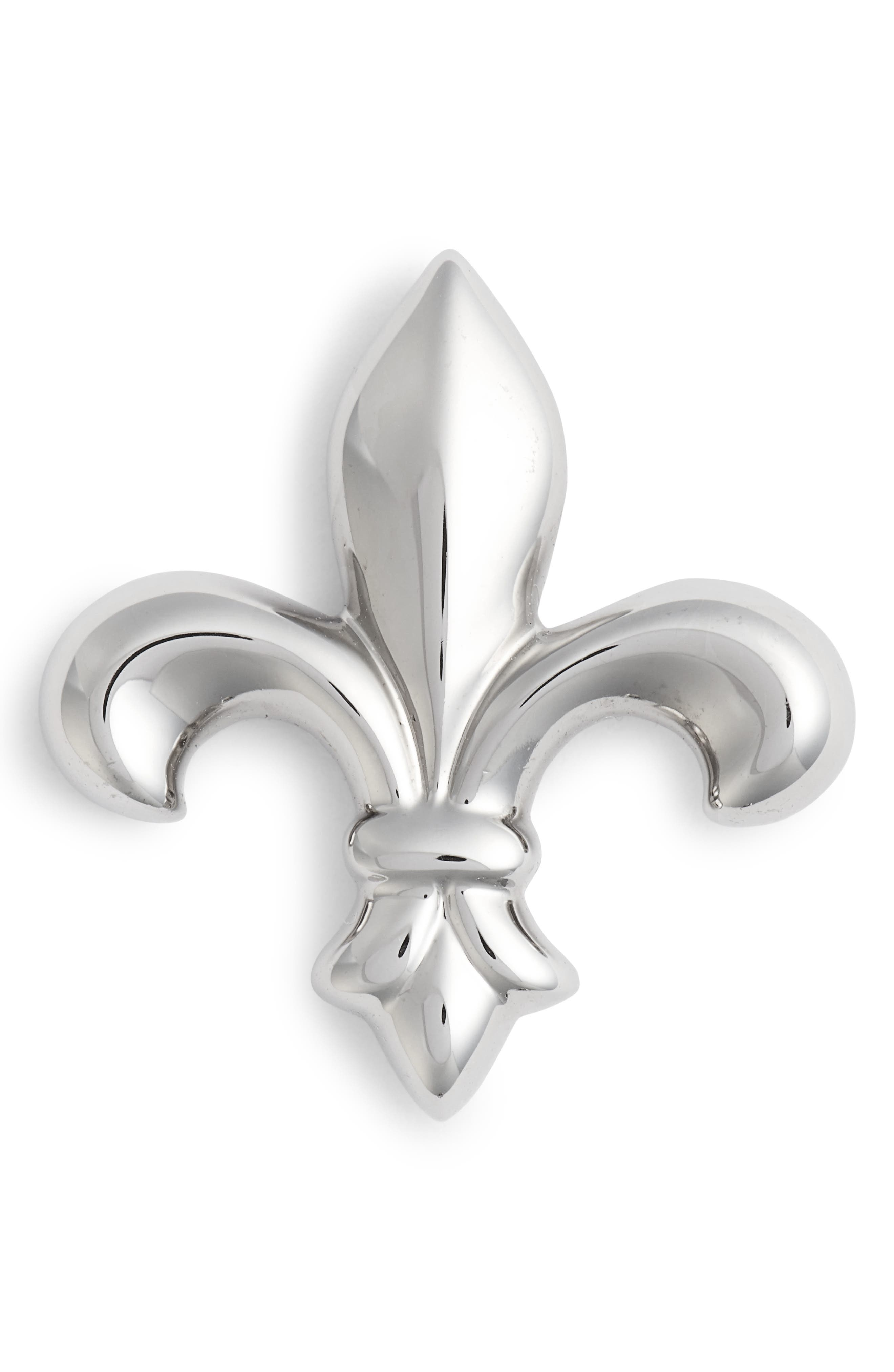 DAVID DONAHUE,                             Fleur de Lis Lapel Pin,                             Main thumbnail 1, color,                             040