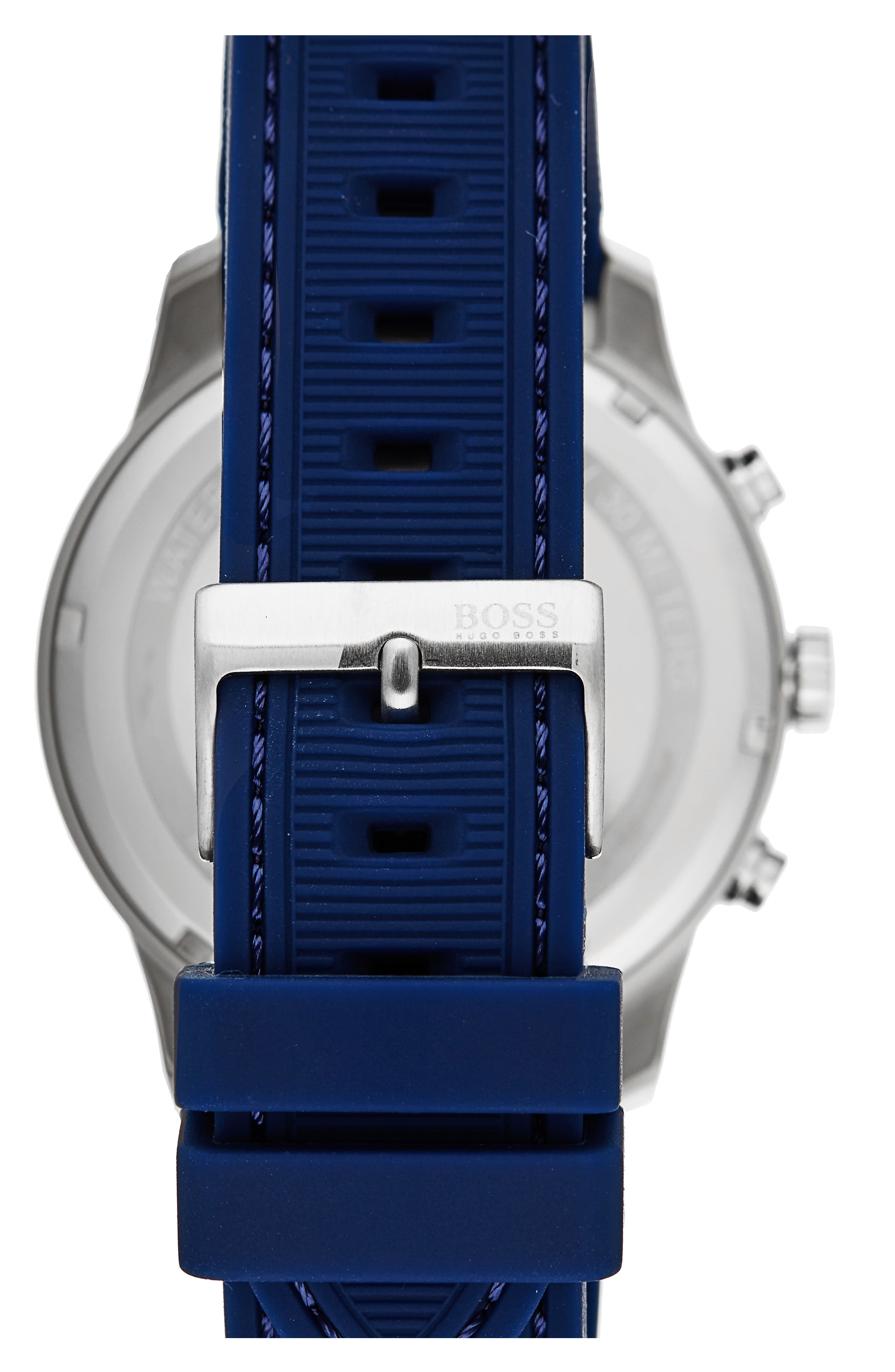 Professional Chronograph Leather Strap Watch, 42mm,                             Alternate thumbnail 2, color,                             460
