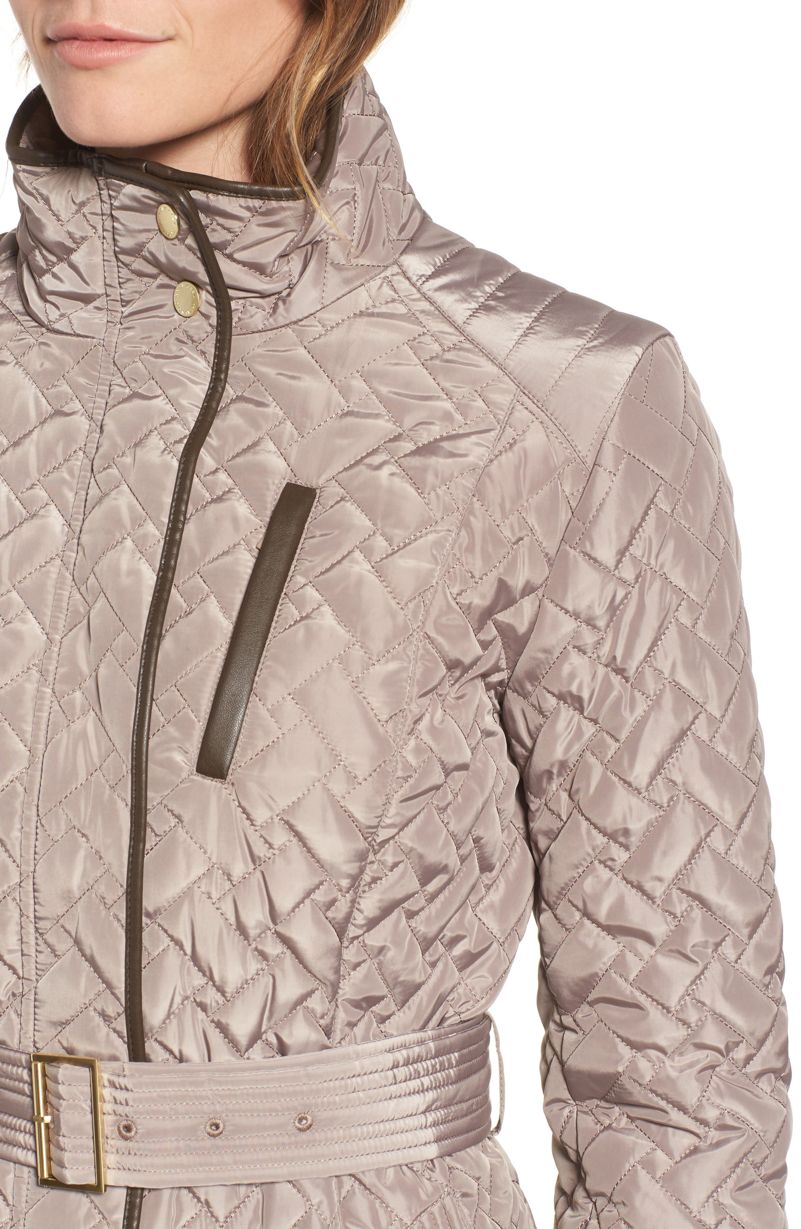 Belted Quilted Coat,                             Alternate thumbnail 4, color,                             284