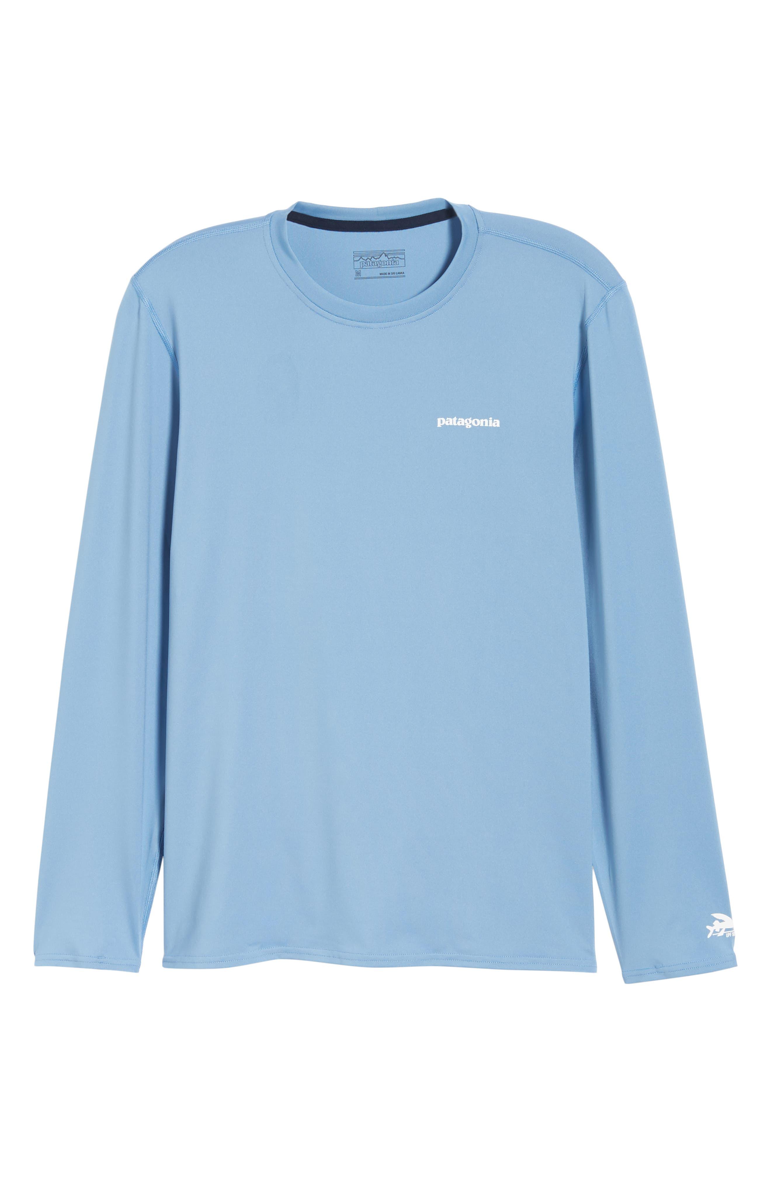 RØ<sup>®</sup> Sun Long Sleeve T-Shirt,                             Alternate thumbnail 6, color,                             BOARDSHORT LOGO/ RAILROAD BLUE