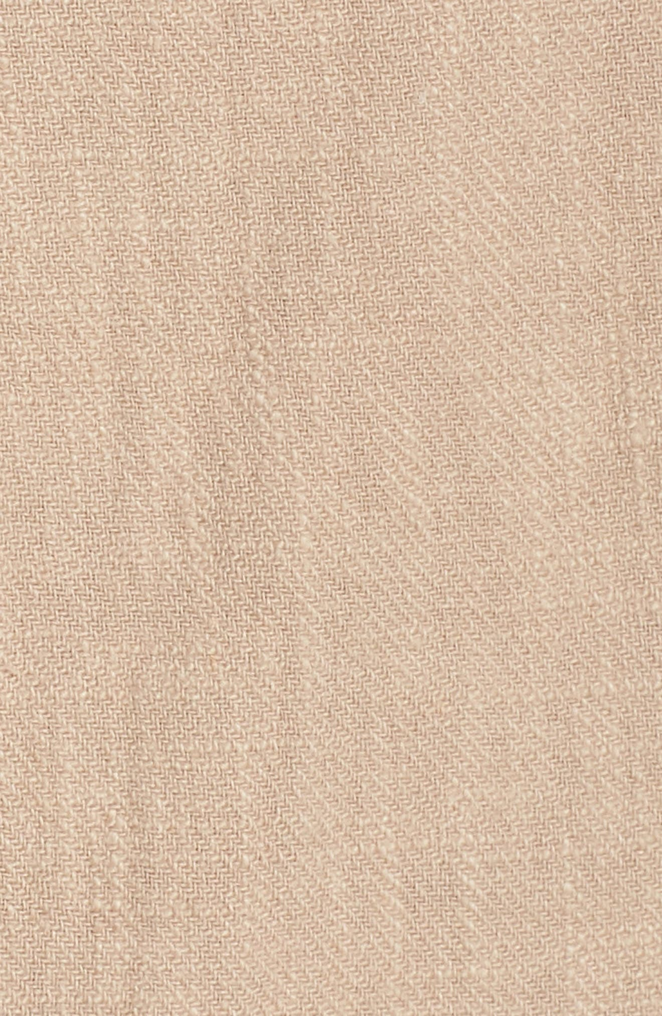 CAARA,                             Tie Front Linen Blend Sundress,                             Alternate thumbnail 6, color,                             250