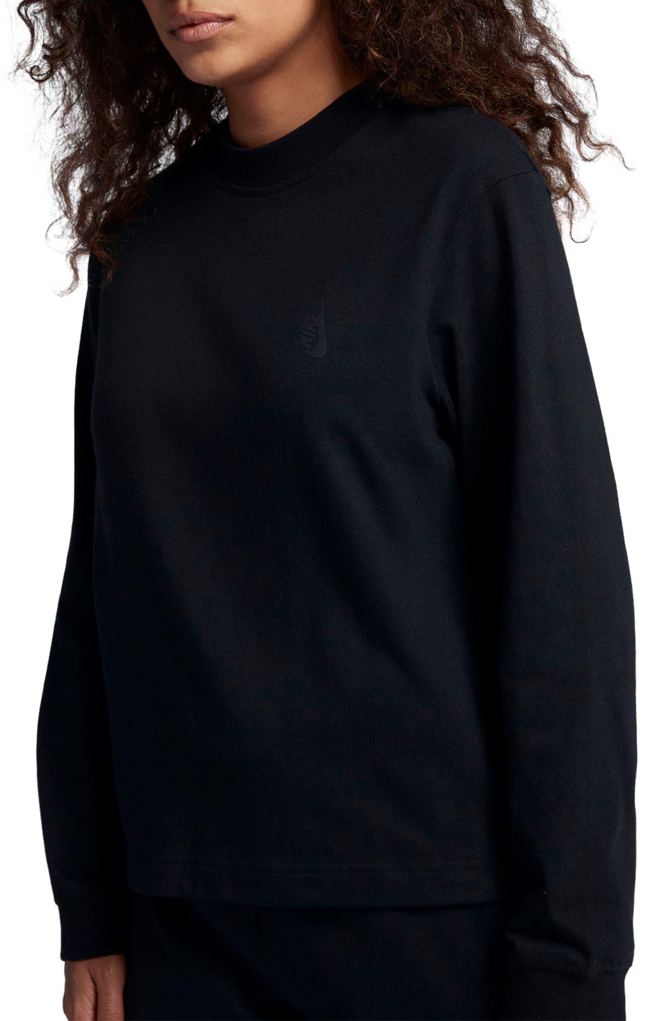 NikeLab Essentials Women's Long Sleeve Mock Neck Tee,                         Main,                         color, 010