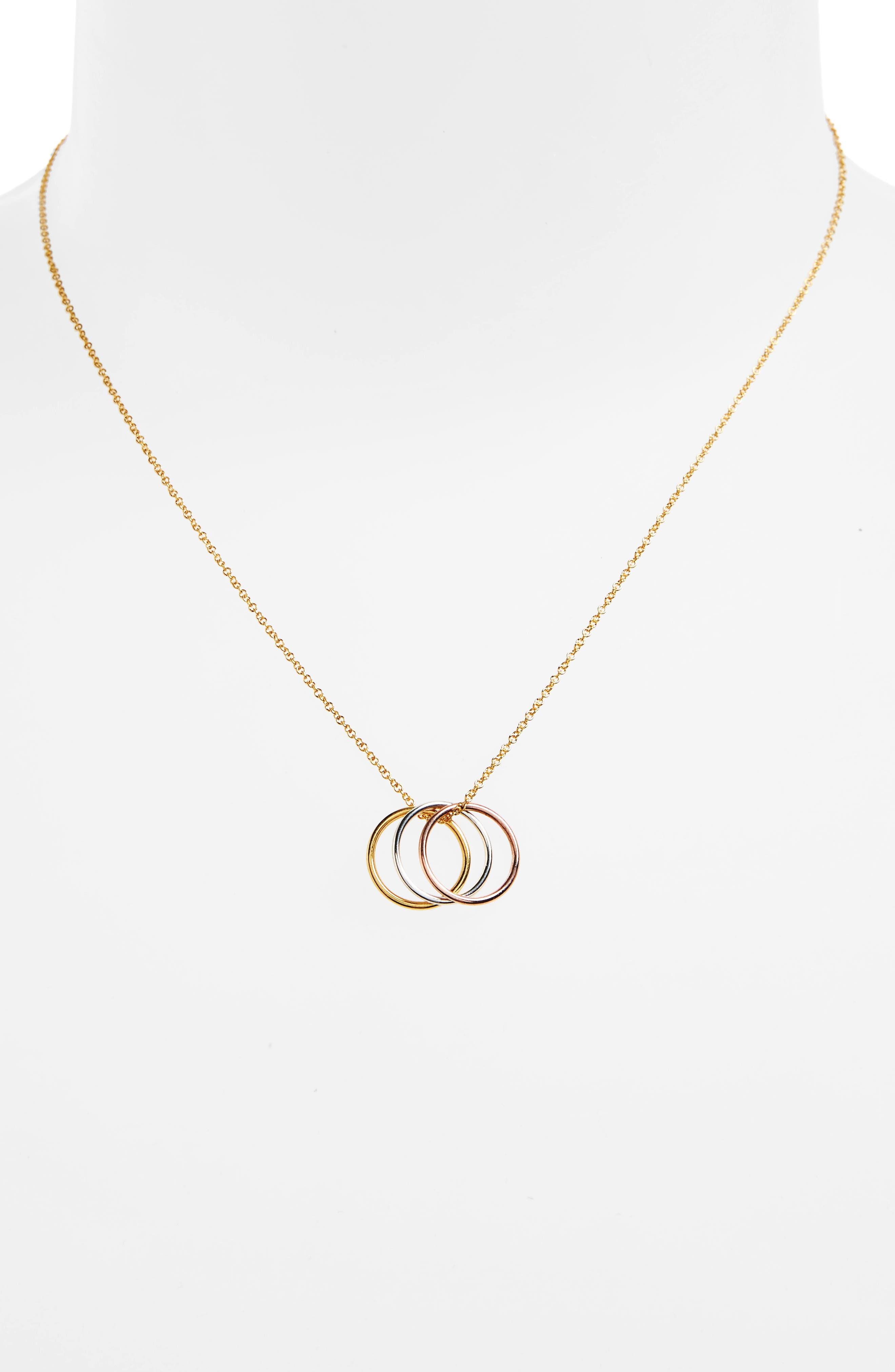 Triple Karma Pendant Necklace,                             Alternate thumbnail 2, color,                             711