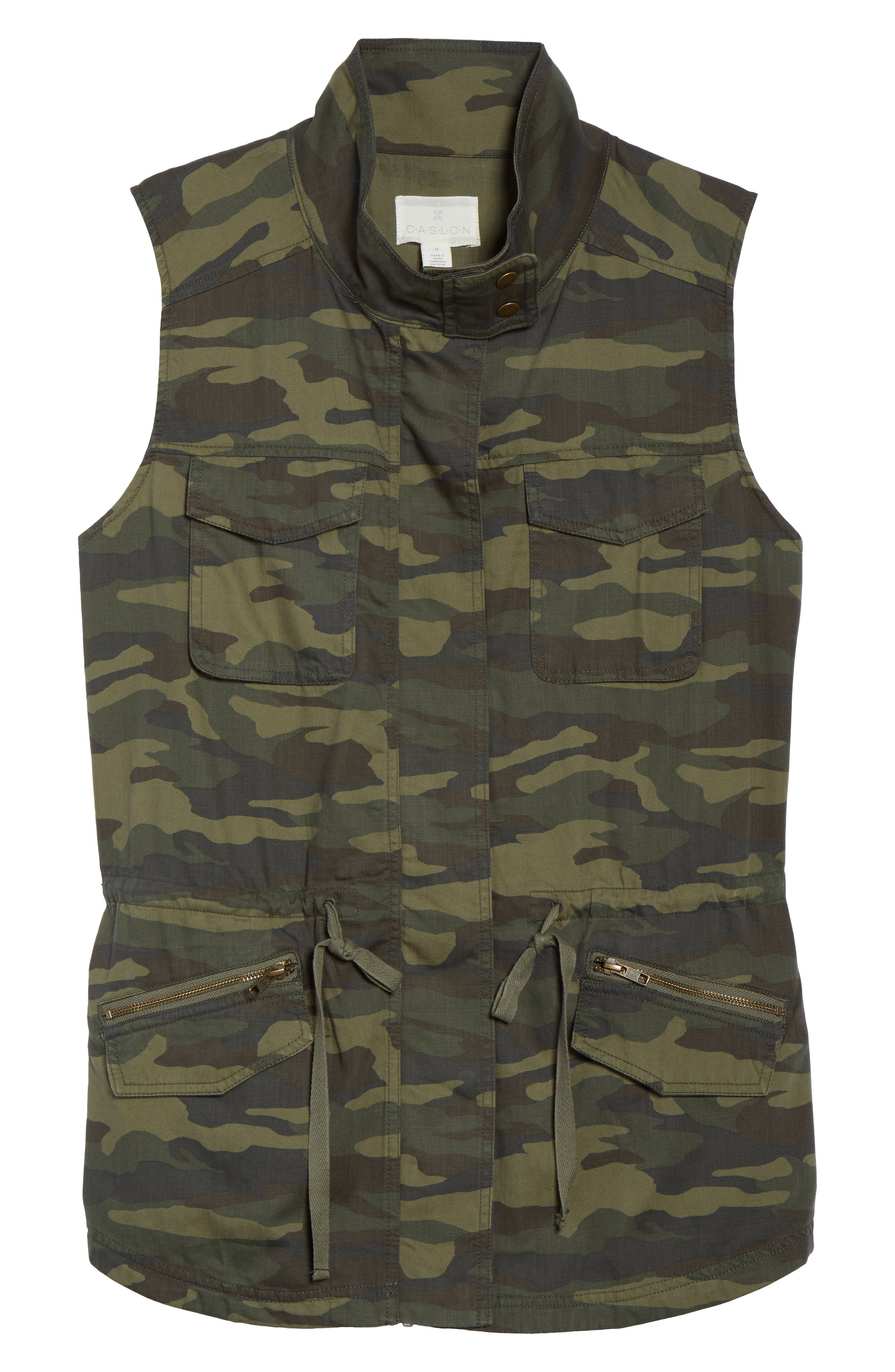 Utility Vest,                             Alternate thumbnail 6, color,                             OLIVE LG CAMO PRT