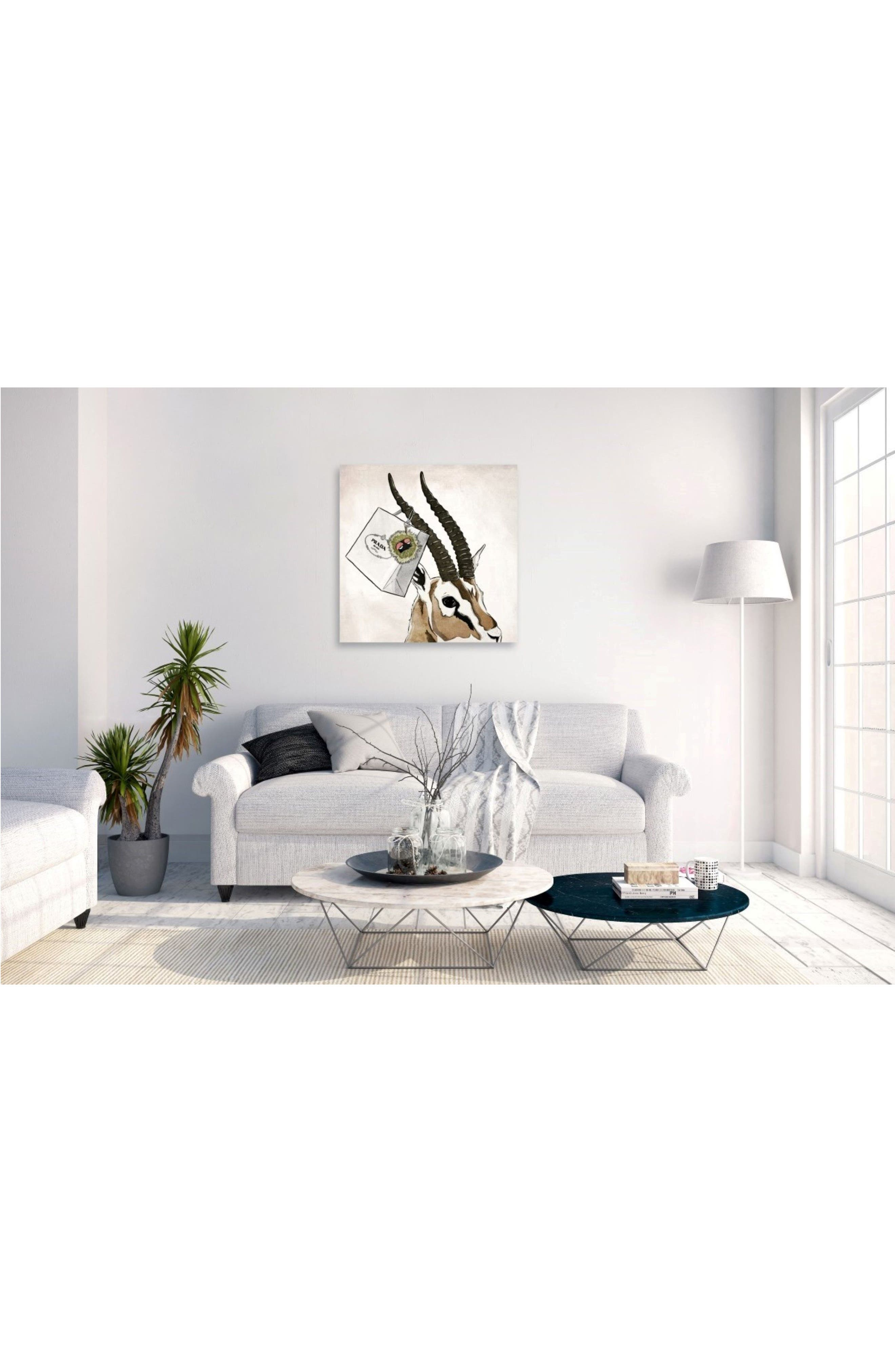 Ultra Luxe Gazelle Canvas Wall Art,                             Alternate thumbnail 2, color,