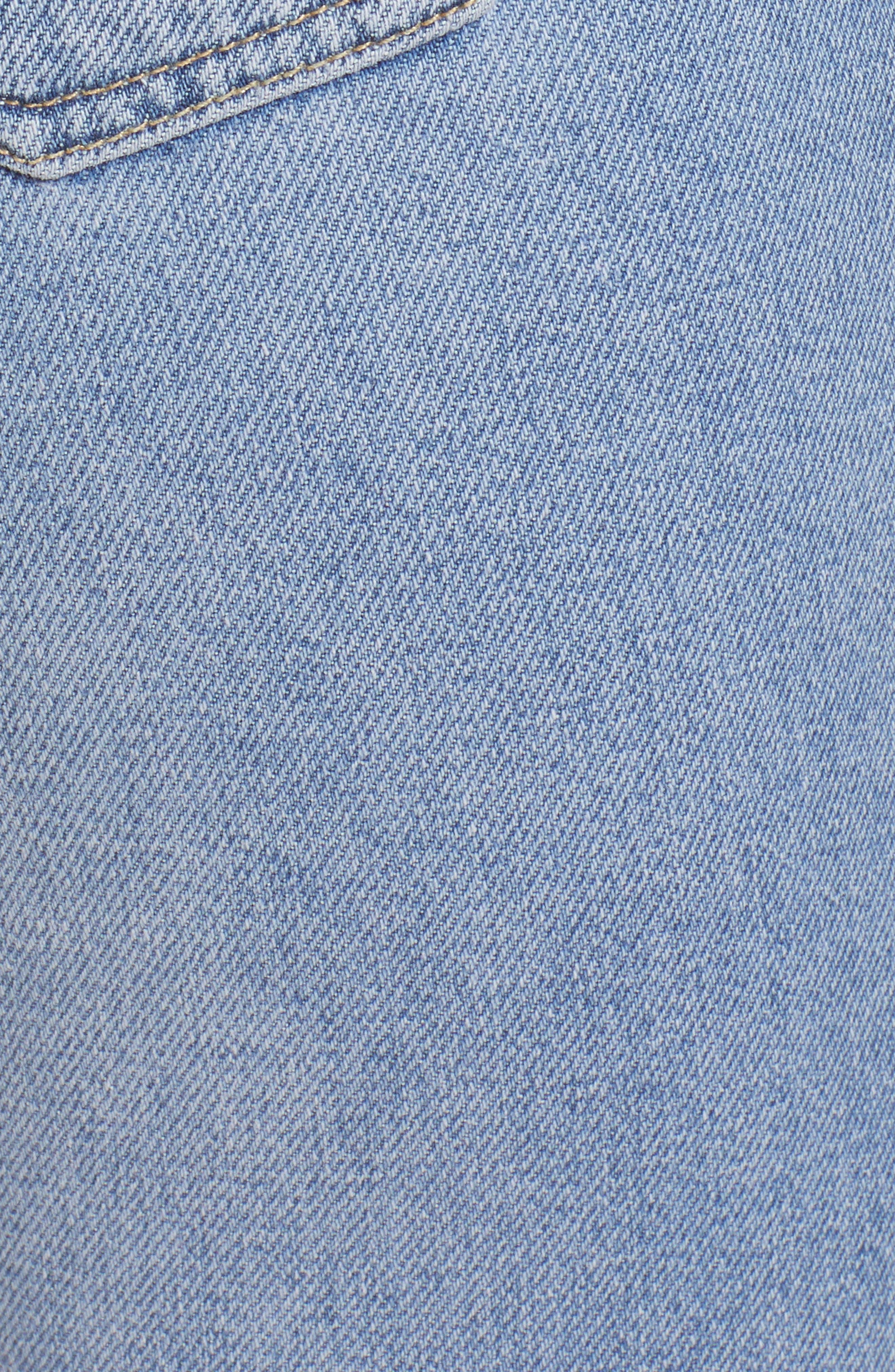 Moto Crop Straight Leg Jeans,                             Alternate thumbnail 6, color,