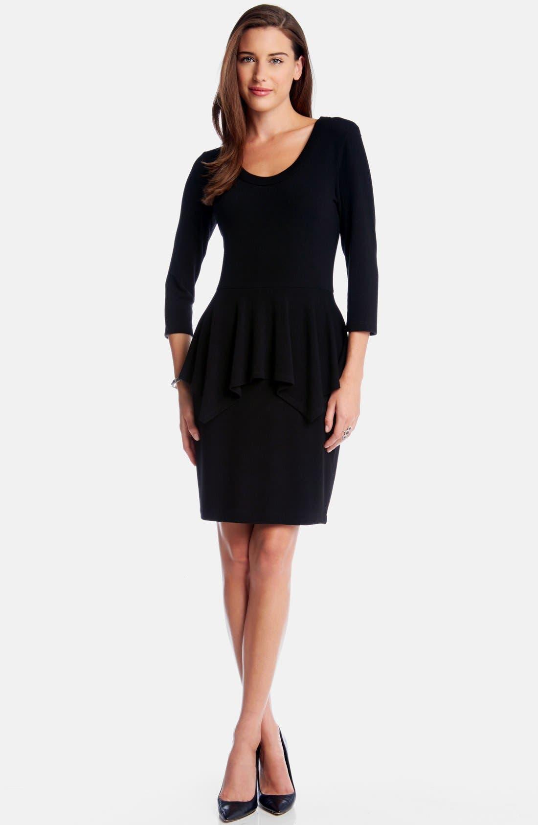 Peplum Sweater Dress, Main, color, 001