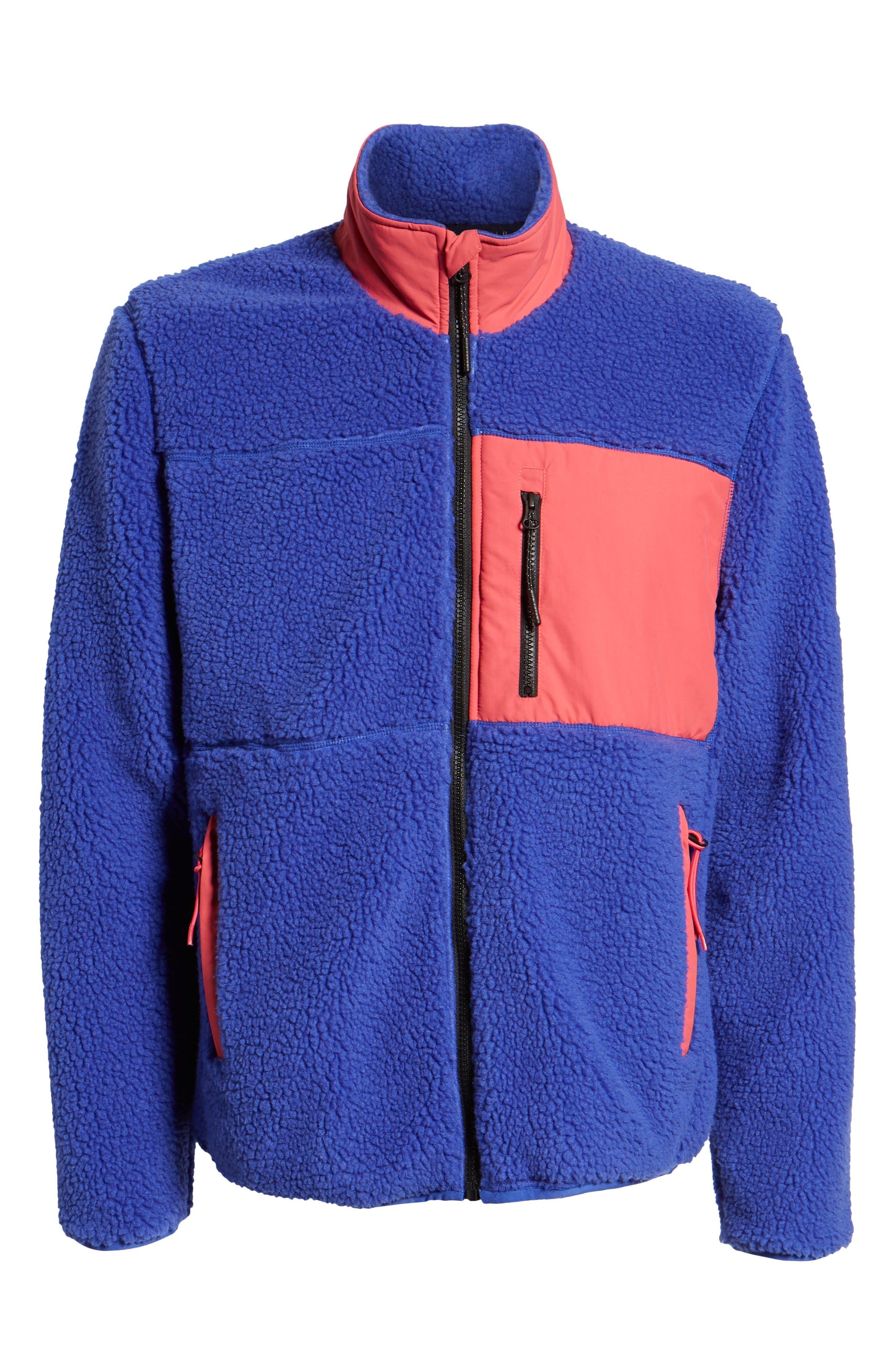 Mattawa Fleece Zip Jacket,                             Alternate thumbnail 7, color,                             ROYAL BLUE