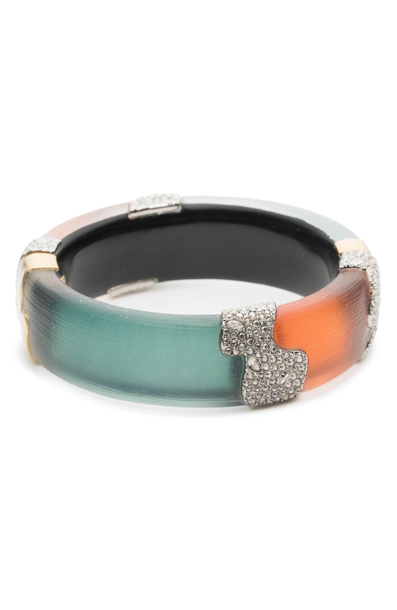 Crystal Encrusted Colorblock Bracelet,                         Main,                         color, 440