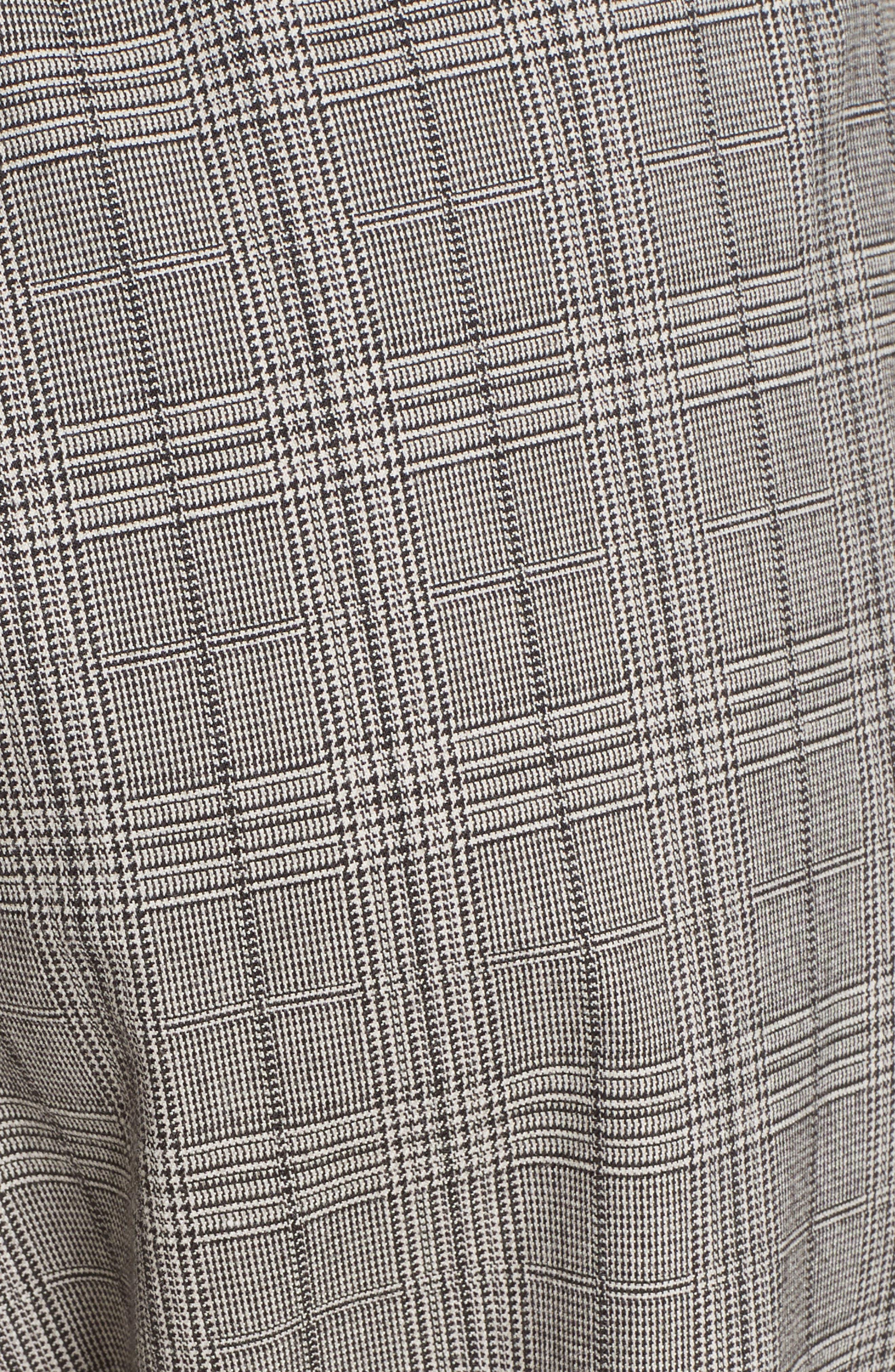 Glen Plaid Jogger Pants,                             Alternate thumbnail 5, color,                             BLACK