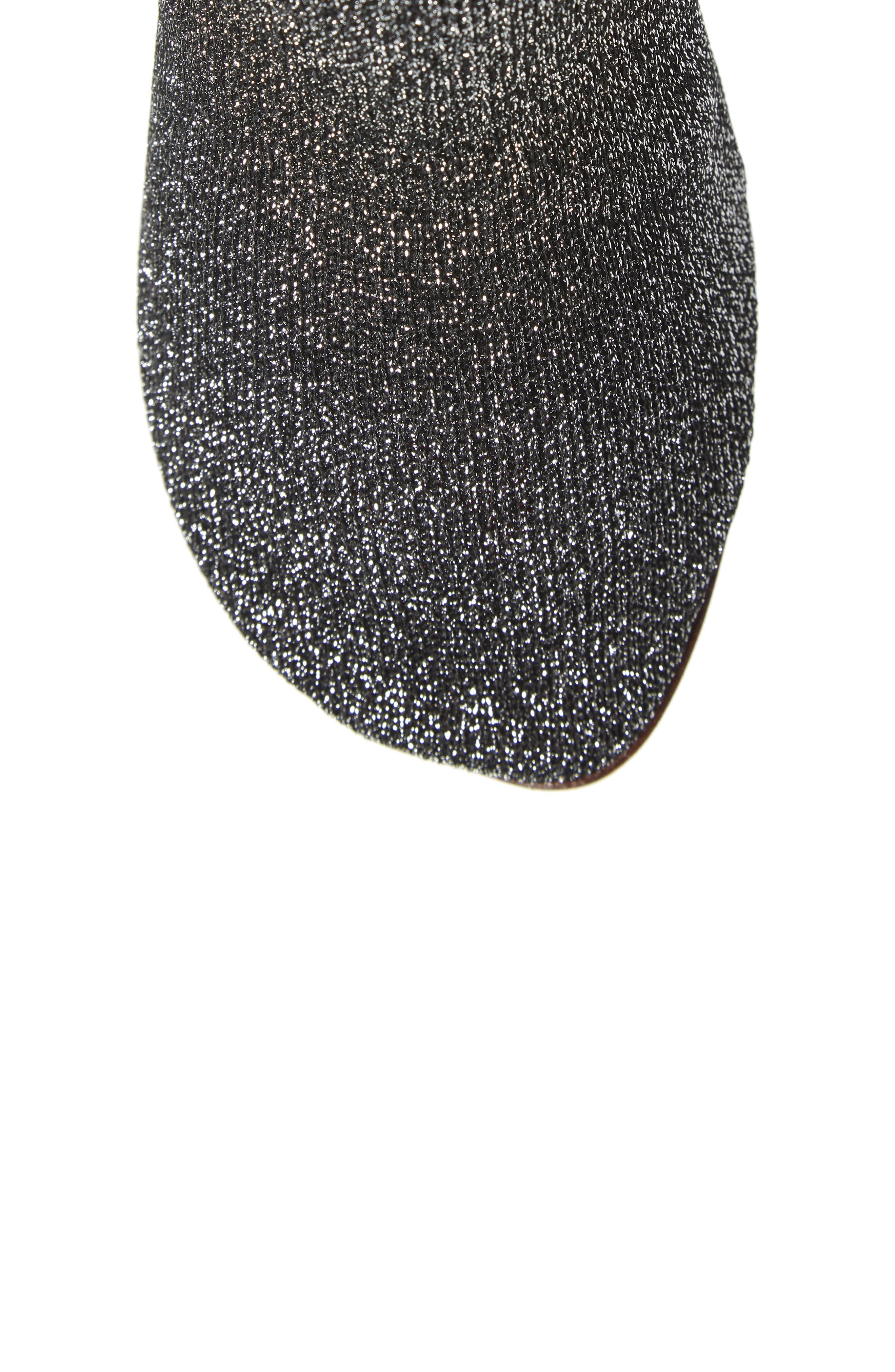Lurex Sock Boot,                             Alternate thumbnail 5, color,                             SILVER/SILVER HEEL - 814