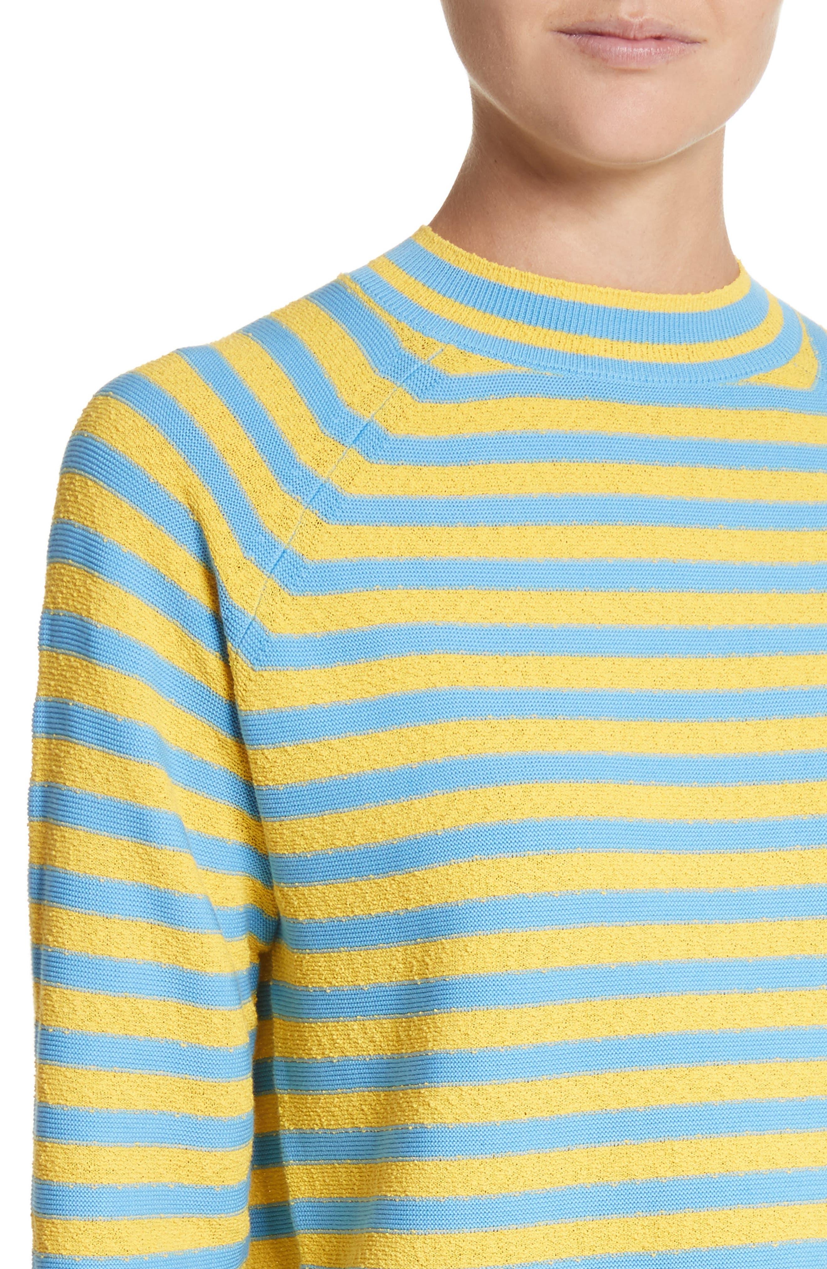 Stripe Mock Neck Sweater,                             Alternate thumbnail 8, color,