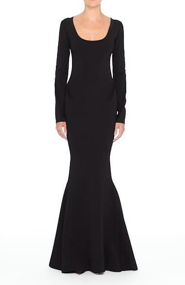 Alternate Video 6  - Zac Posen Rib Knit Trumpet Gown