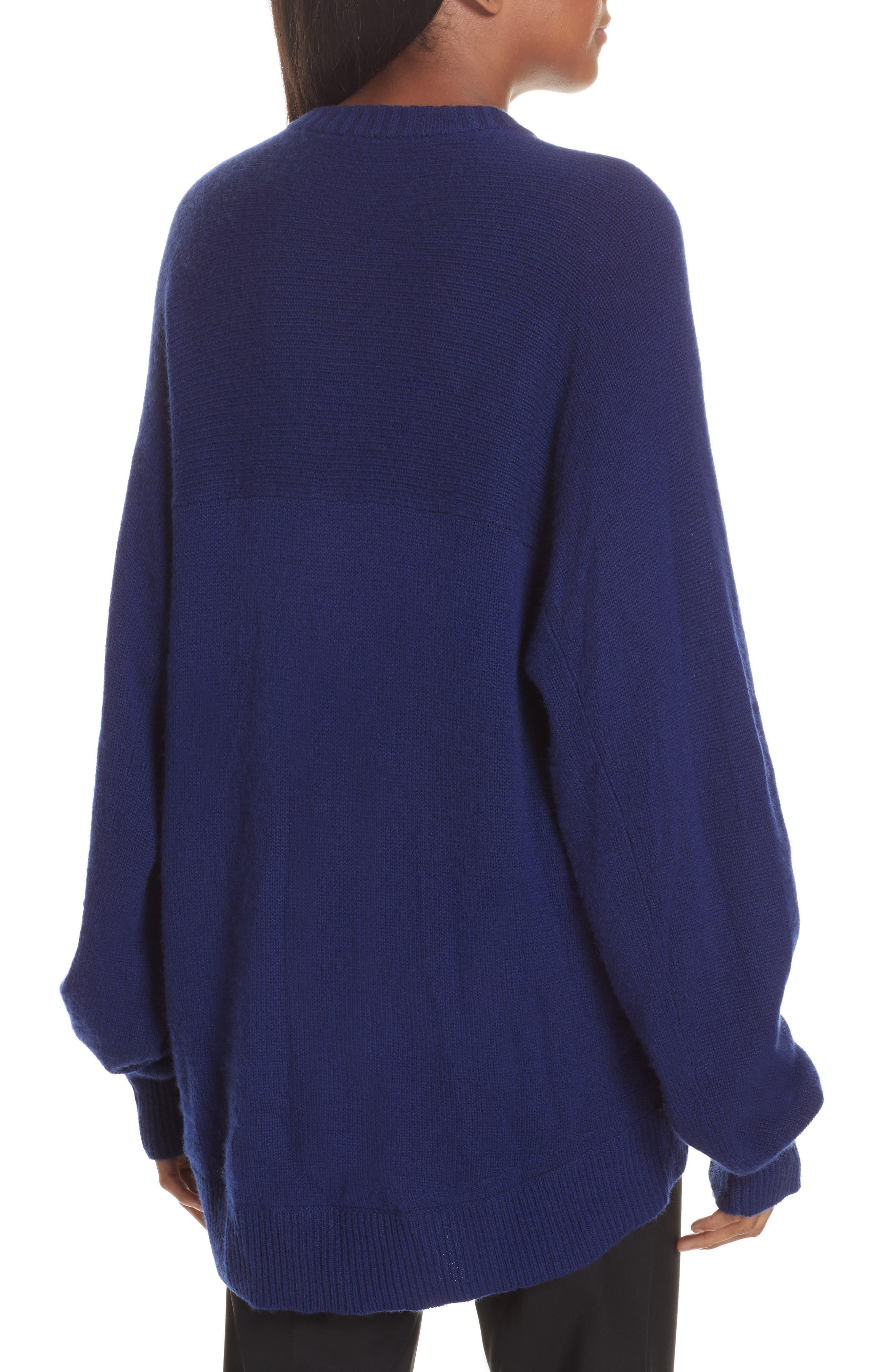 Cashmere Sweater,                             Alternate thumbnail 2, color,                             PERSIAN BLUE