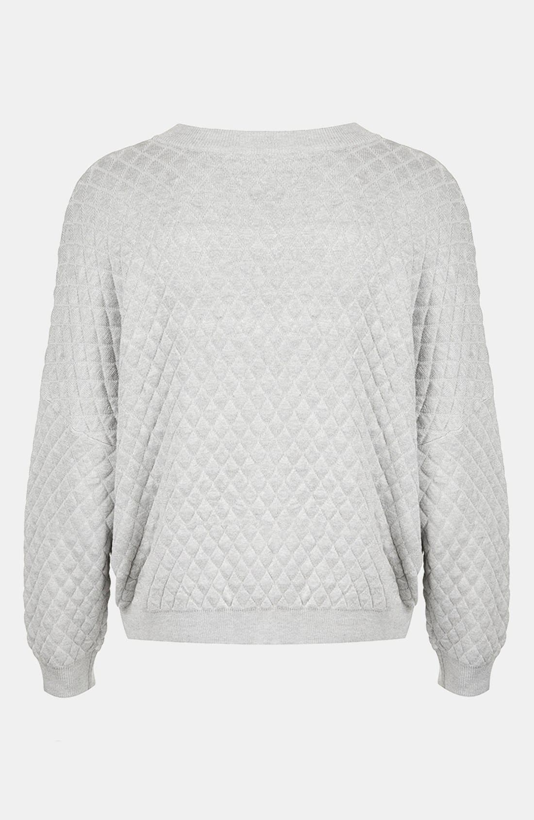 Quilted Sweatshirt,                             Alternate thumbnail 2, color,                             050