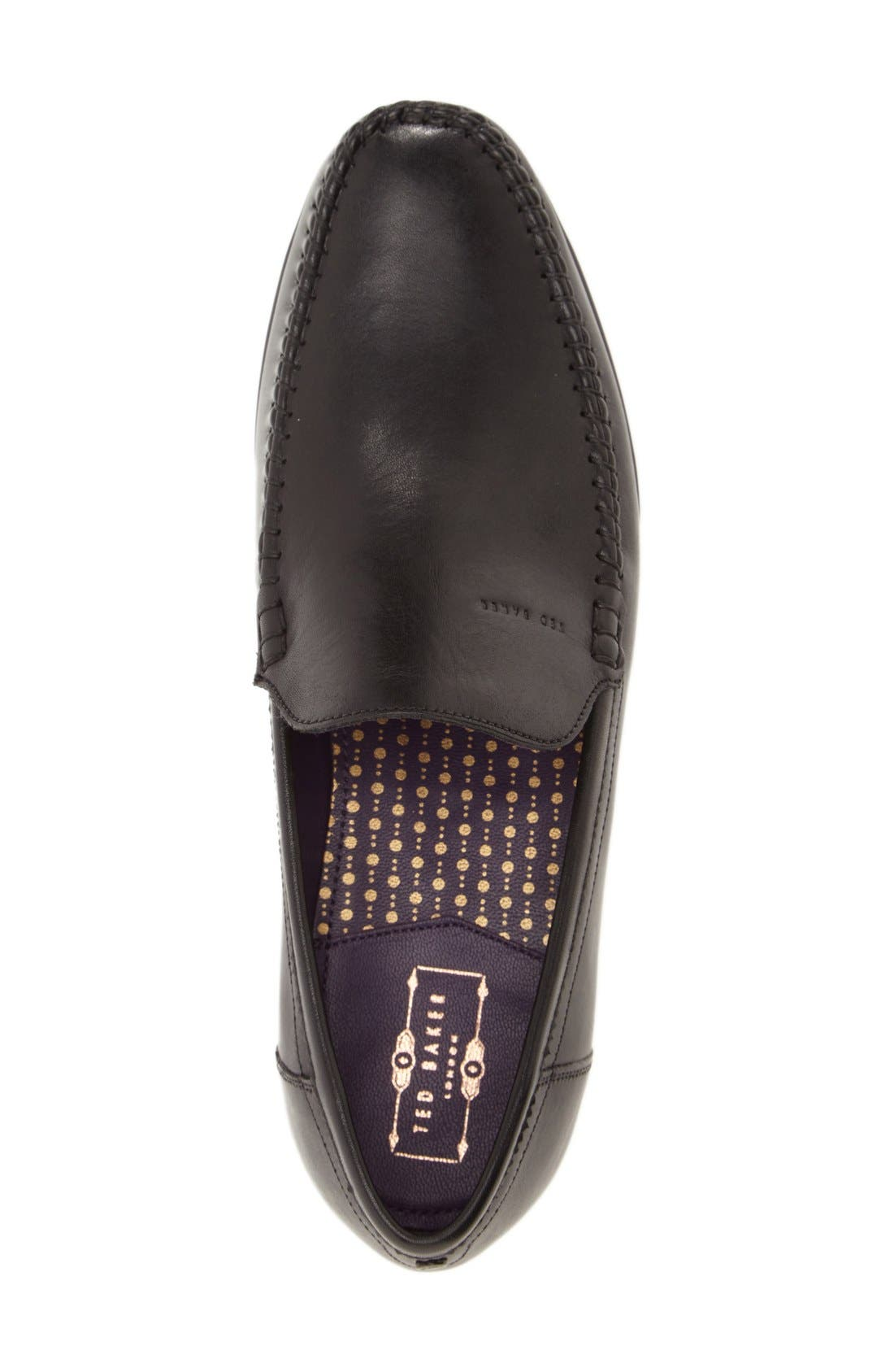 'Simeen 3' Venetian Loafer,                             Alternate thumbnail 4, color,                             001